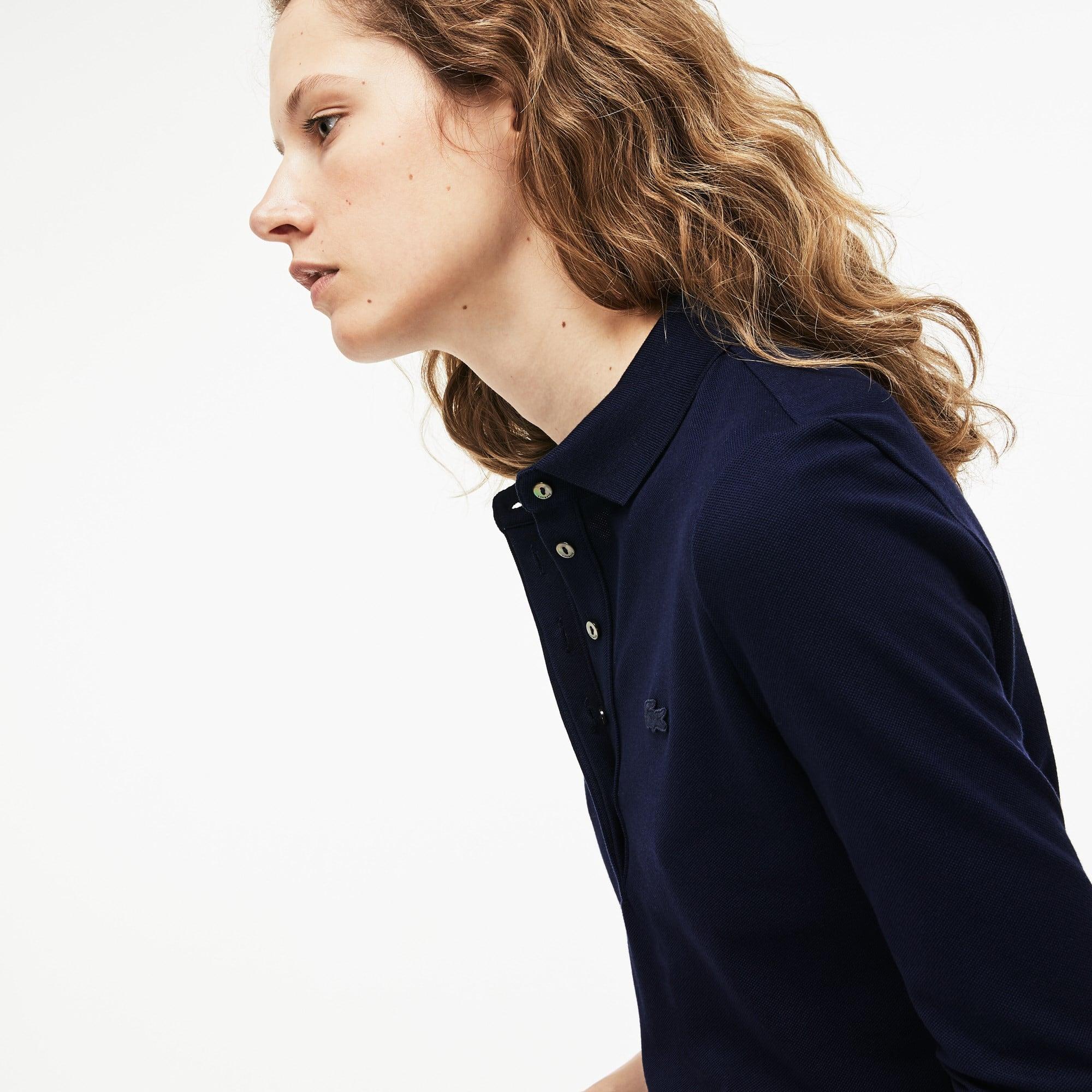 Lacoste - Slim Fit Damen-Polokleid aus Mini-Piqué mit Stretch - 5