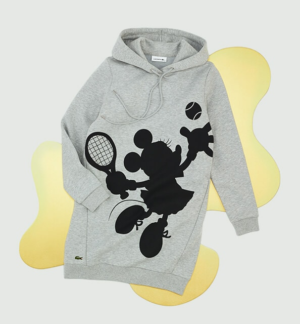 Minnie serves up the action in silhouette on this cotton sweatshirt dress.