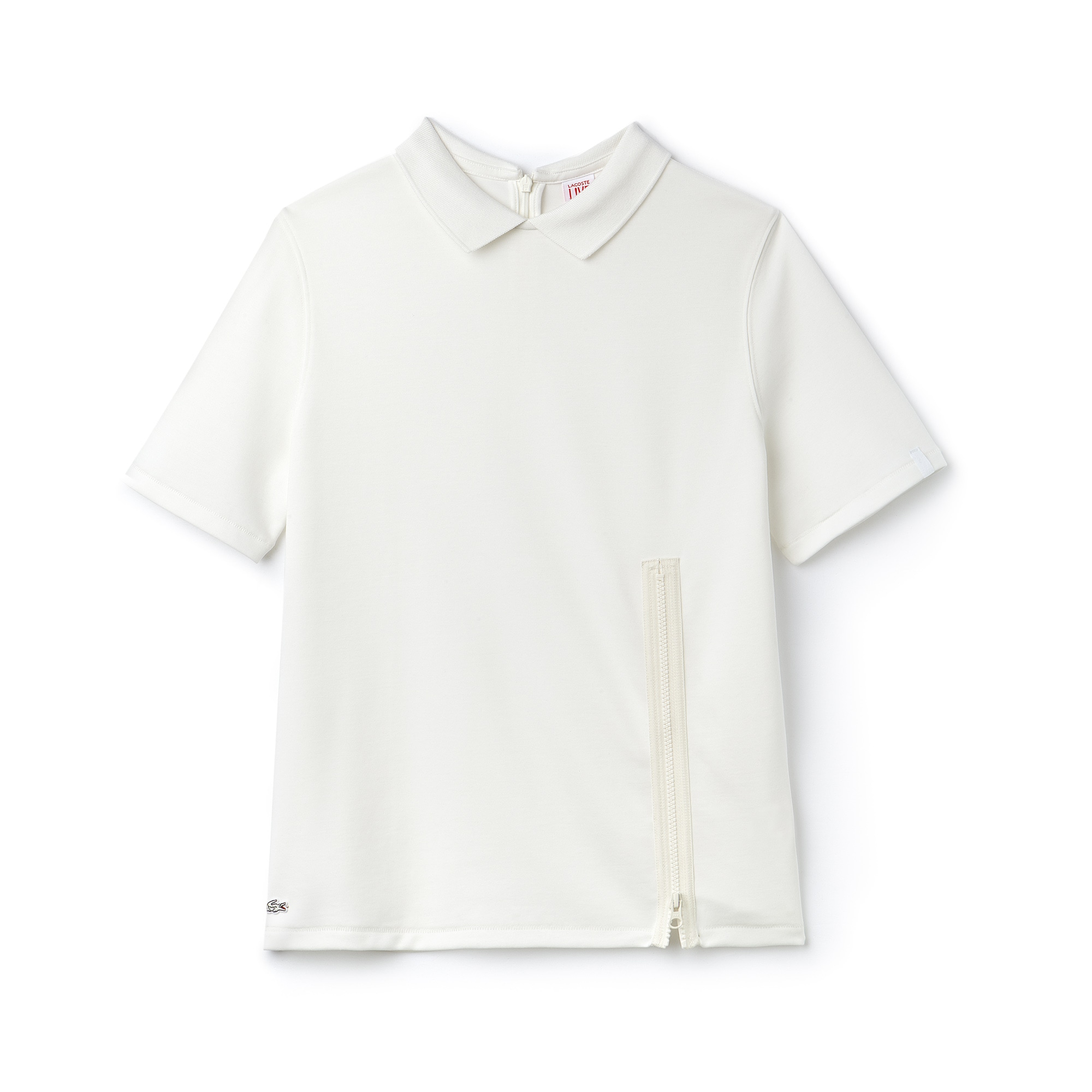 Women's Lacoste LIVE Jersey Zip Polo Shirt