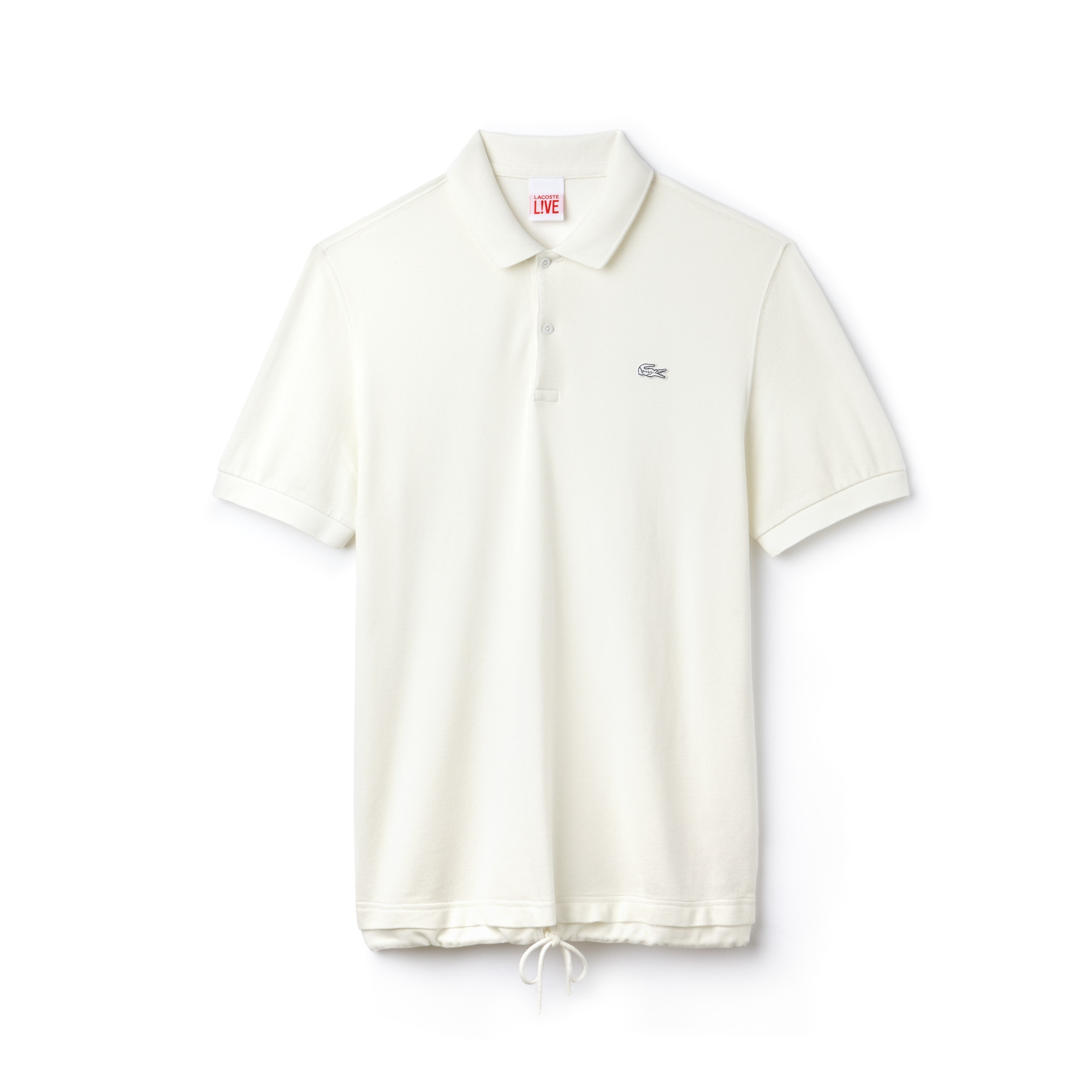 Men's Lacoste LIVE Drawstring Faded Petit Piqué Polo Shirt