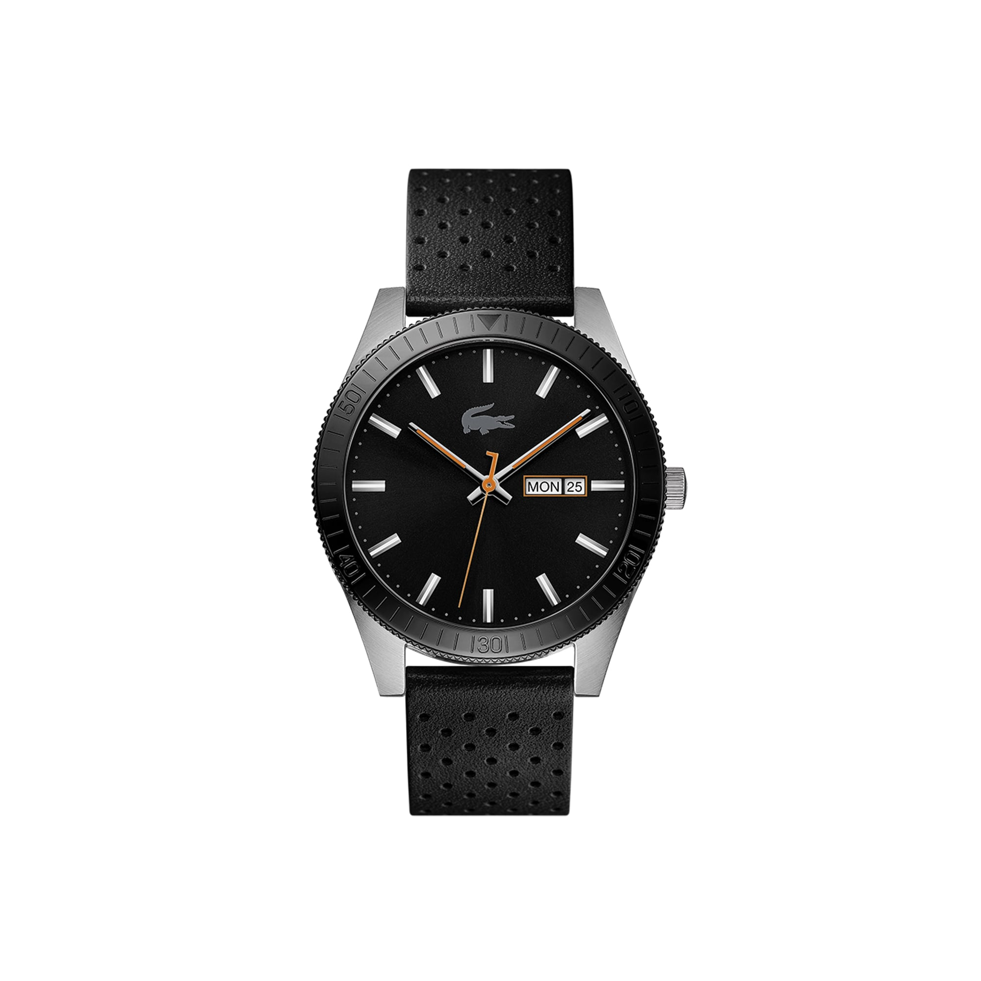 Men's Lacoste Legacy Watch with Black Punched Leather Strap