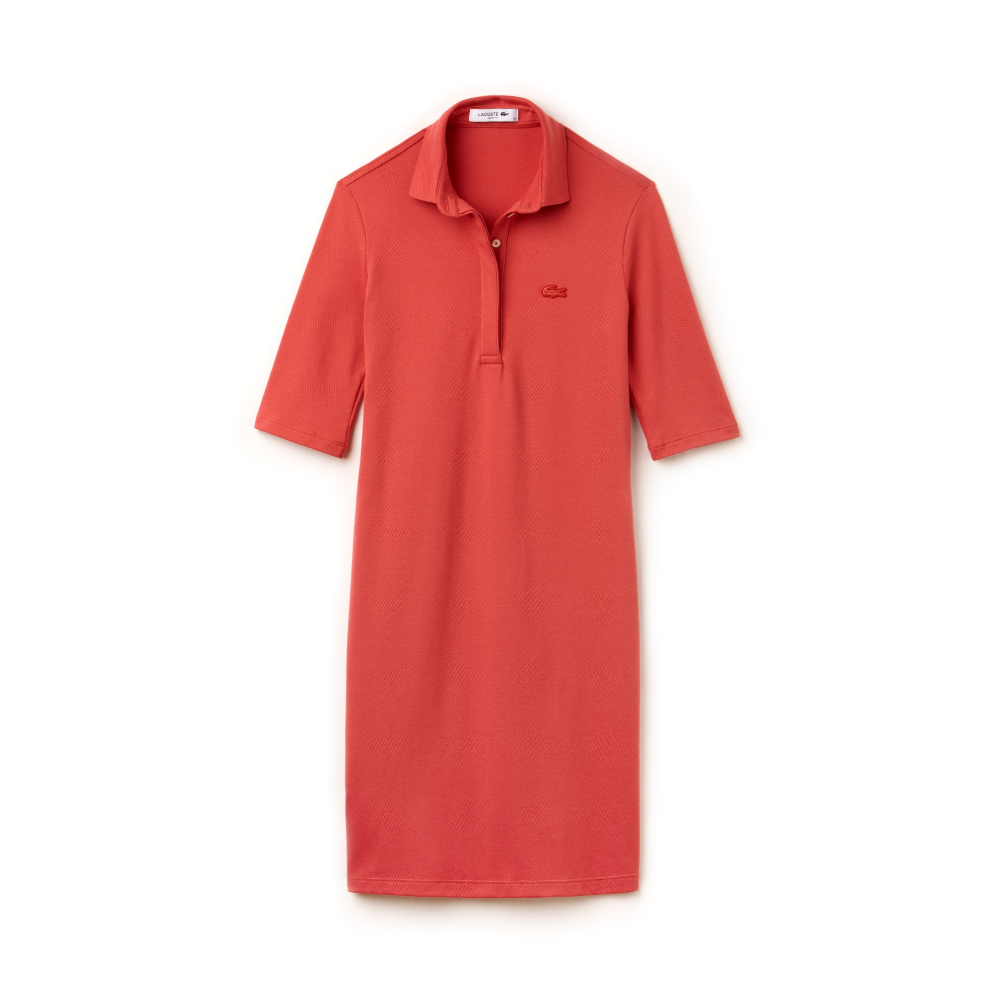 Women's Slim Fit Stretch Mini Piqué Polo Dress