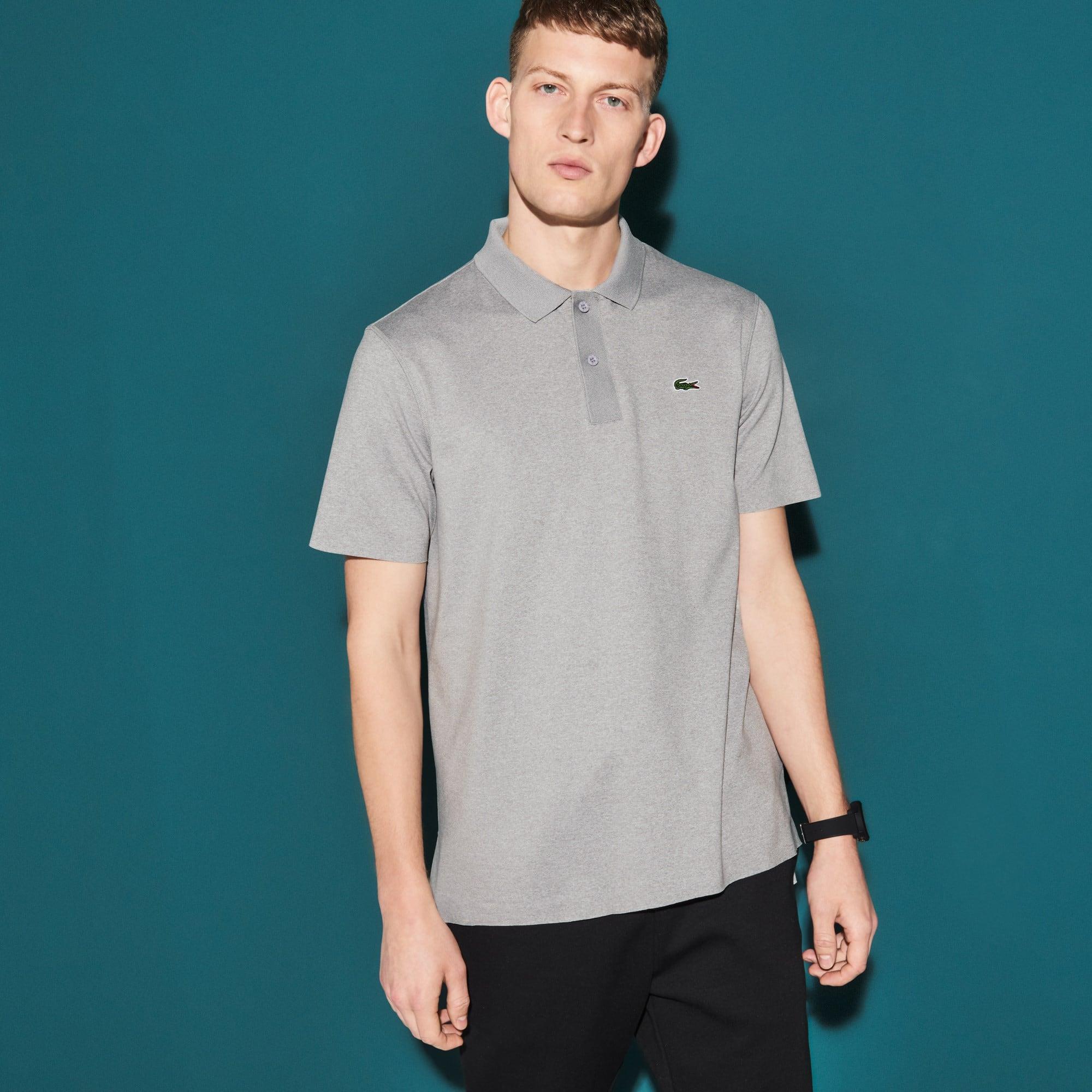 Men's Lacoste SPORT Flecked Stretch Jersey Tennis Polo Shirt