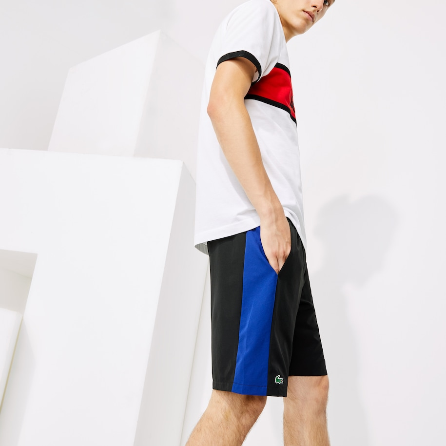 Men's Lacoste SPORT Colourblock Bands Lightweight Tennis Shorts