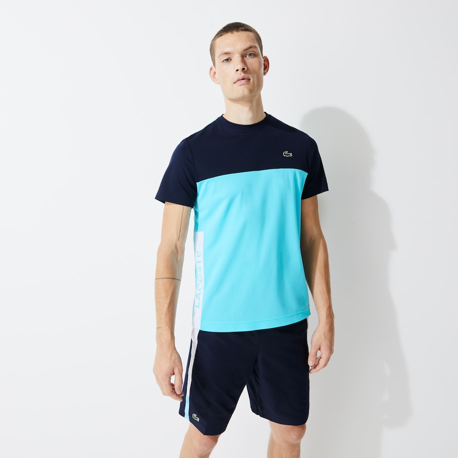 Men's Lacoste SPORT Colourblock Breathable Piqué T-shirt