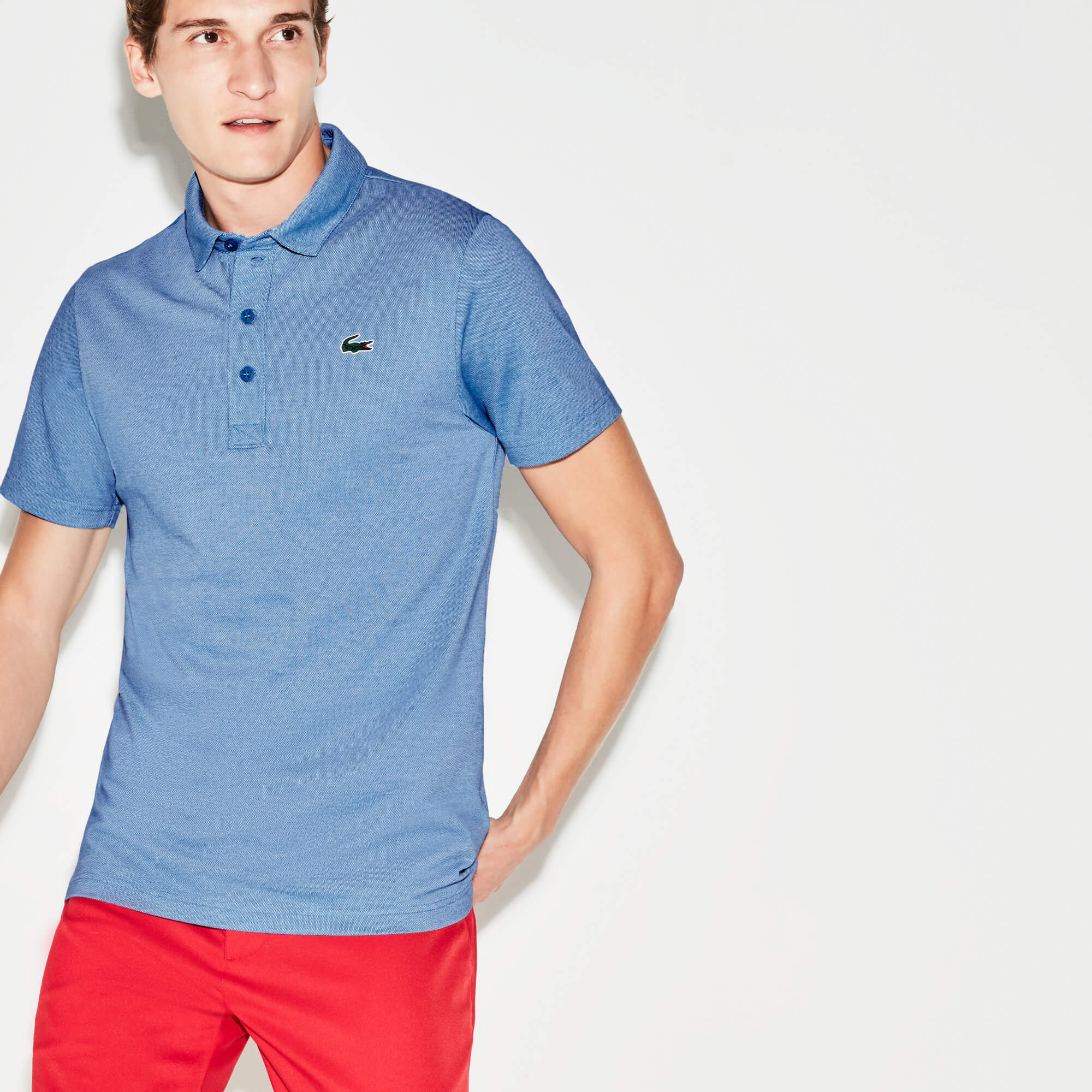 Men's Lacoste SPORT Bicolour Technical Jersey Golf Polo Shirt