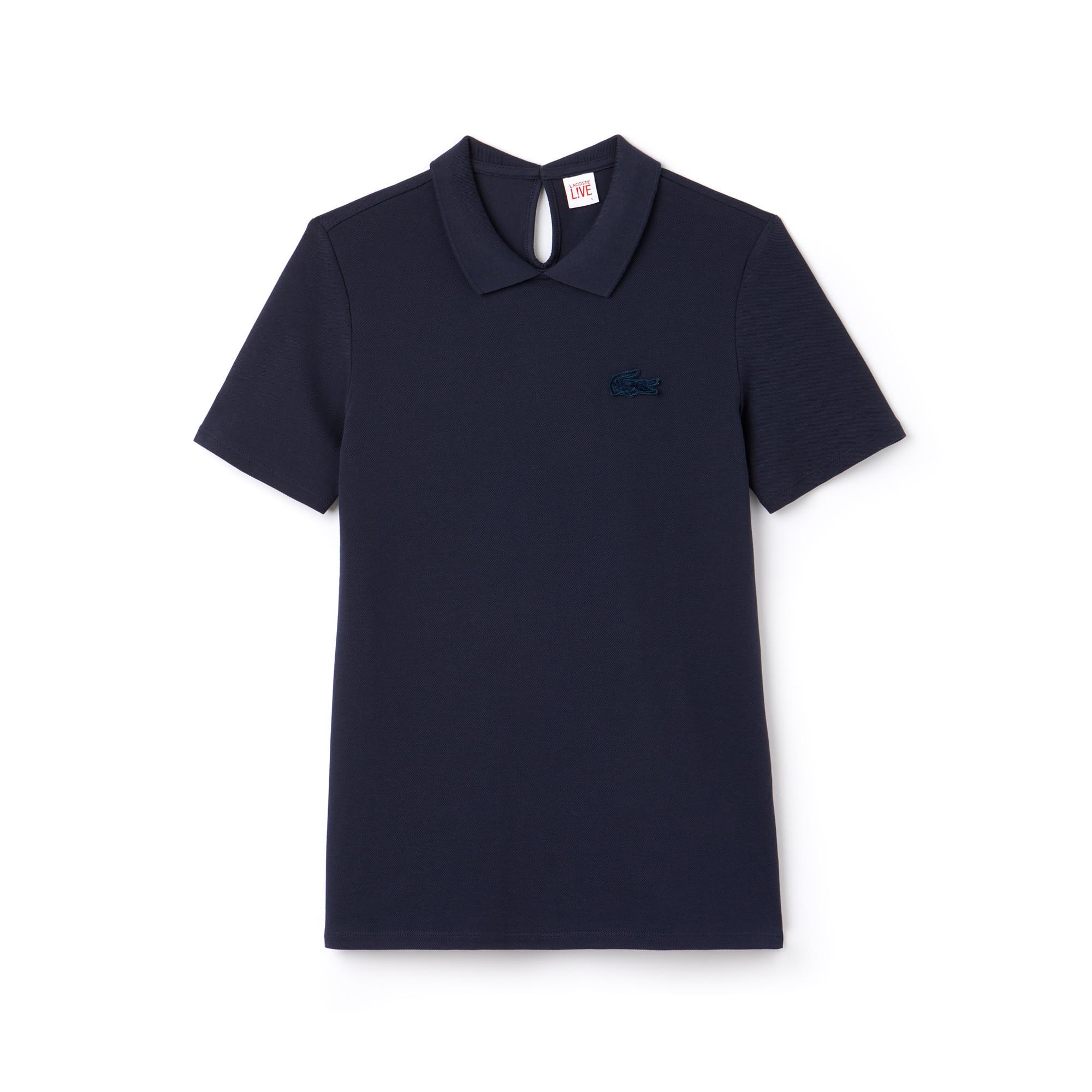 Women's Lacoste LIVE Teardrop Opening Mini Piqué Polo Shirt