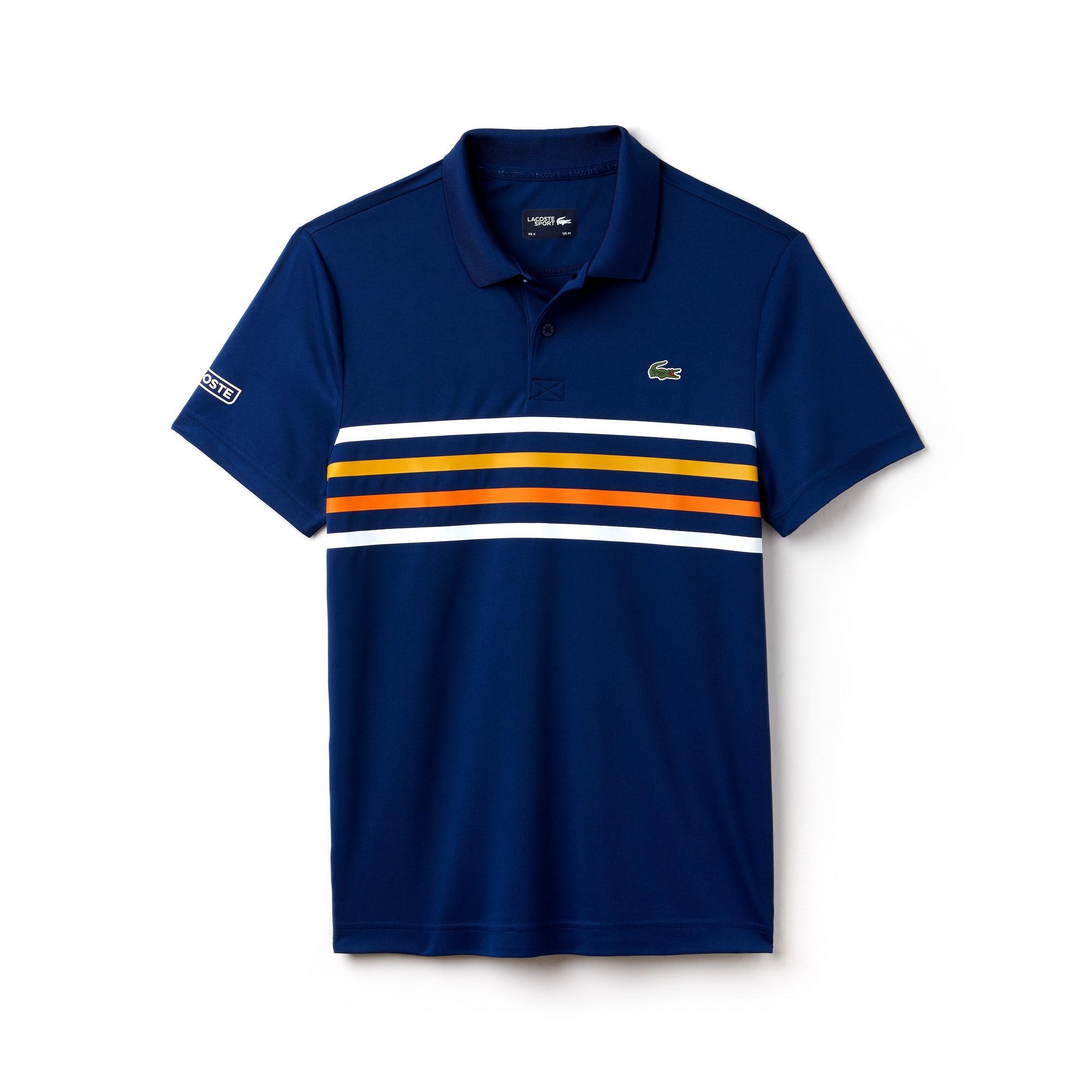 Men's Lacoste SPORT Colored Bands Technical Piqué Tennis Polo Shirt