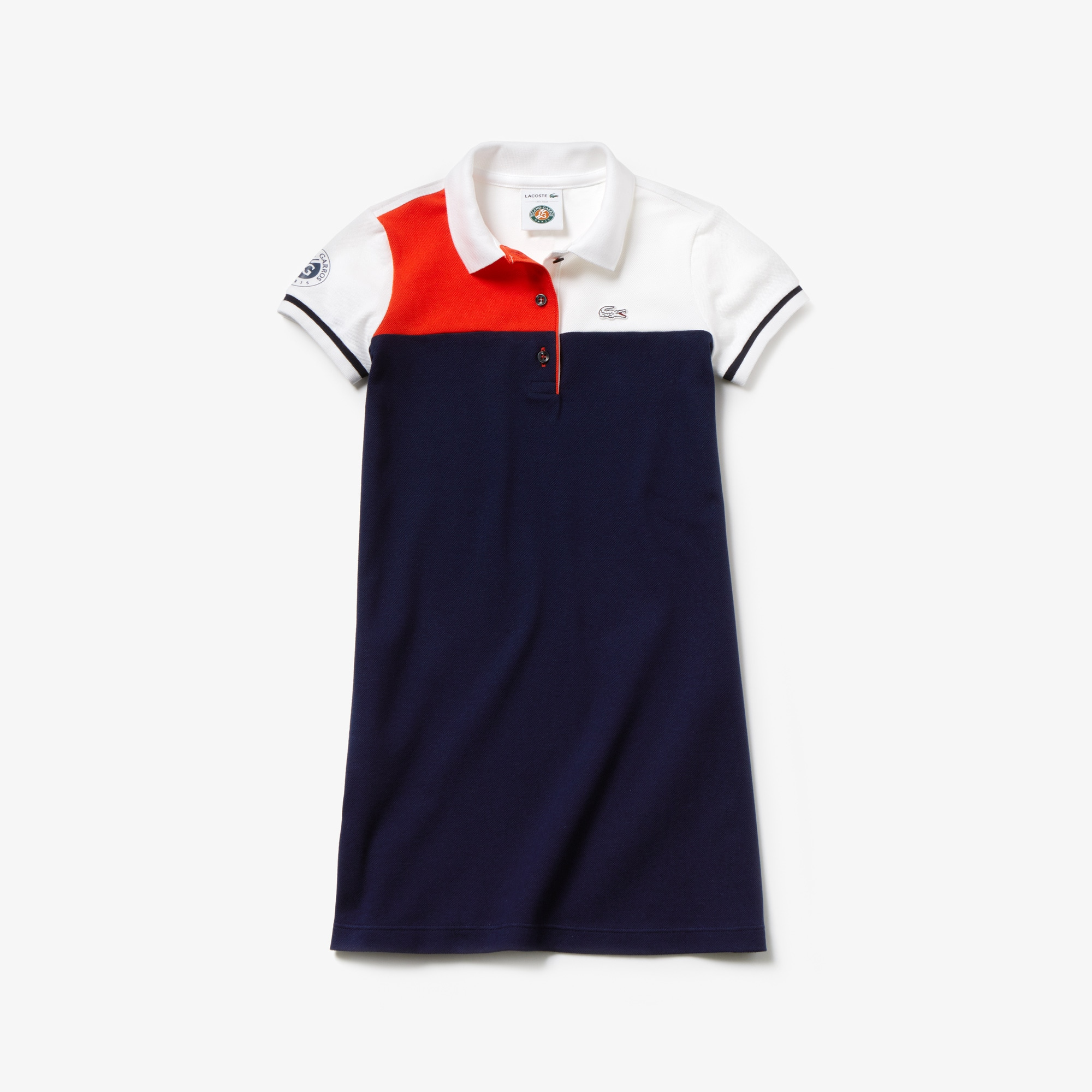 Girls' Lacoste SPORT French Open Edition Colourblock Polo Dress
