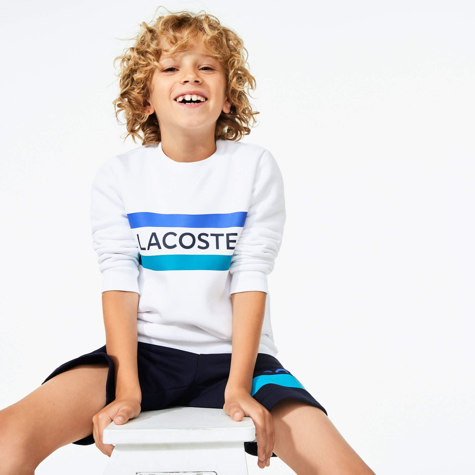 Boys' Lacoste SPORT Lettering Fleece Sweatshirt