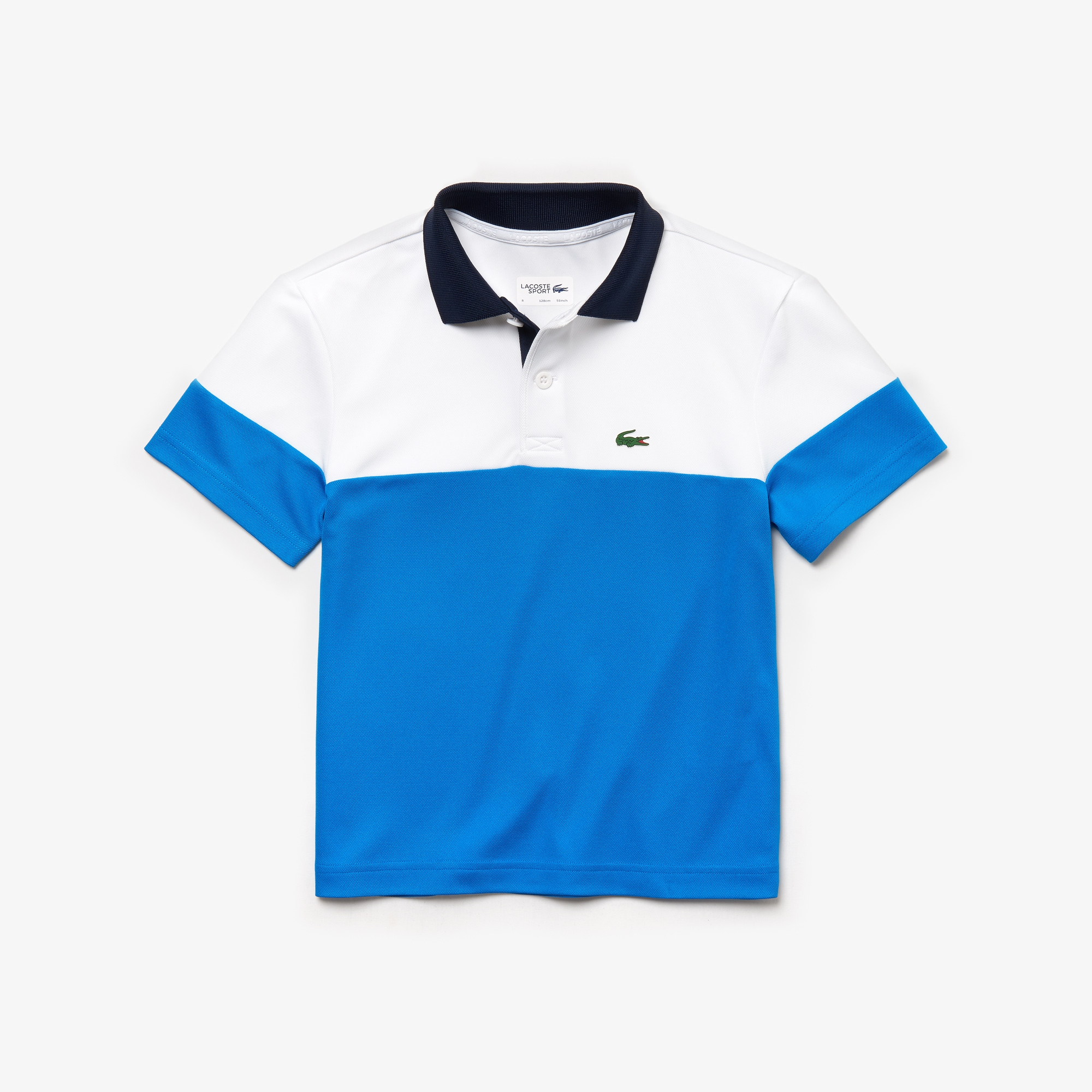f2cfc016e Boys  Lacoste SPORT Colourblock Breathable Piqué Tennis Polo Shirt ...