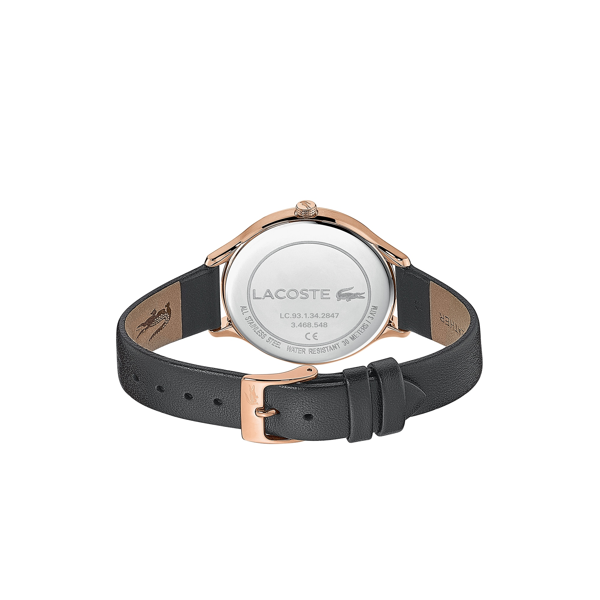 Ladies Constance Watch with Black Leather Strap