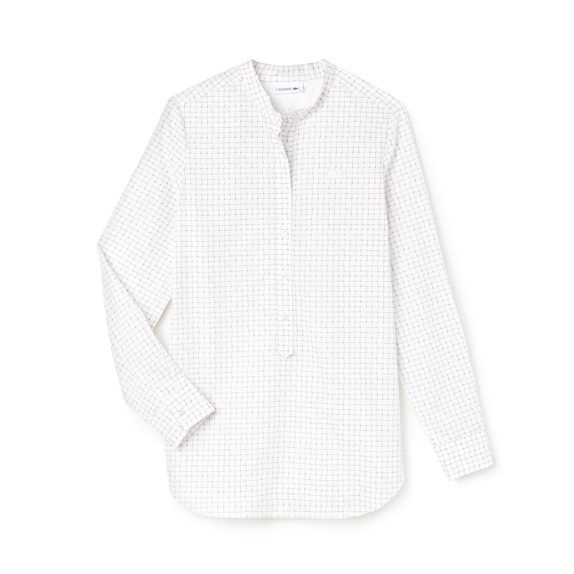 Women's Regular Fit Print Cotton Poplin Shirt