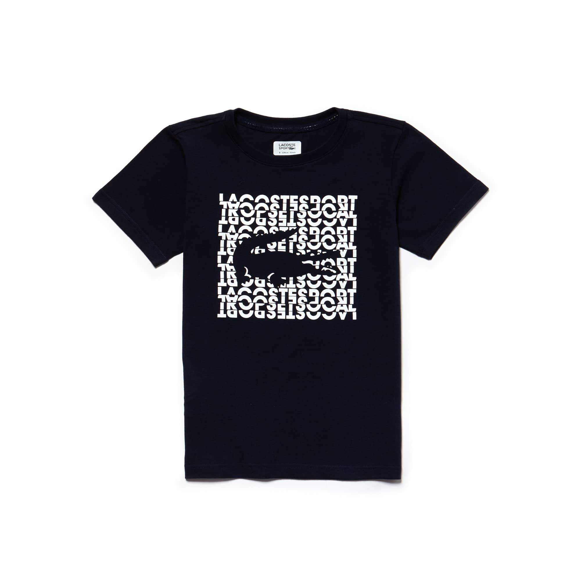 Boys' Lacoste SPORT Lettering Technical Jersey Tennis T-shirt