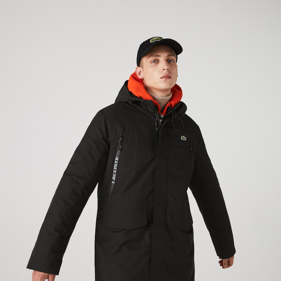 Men's Lacoste SPORT Hooded Quilted Parka