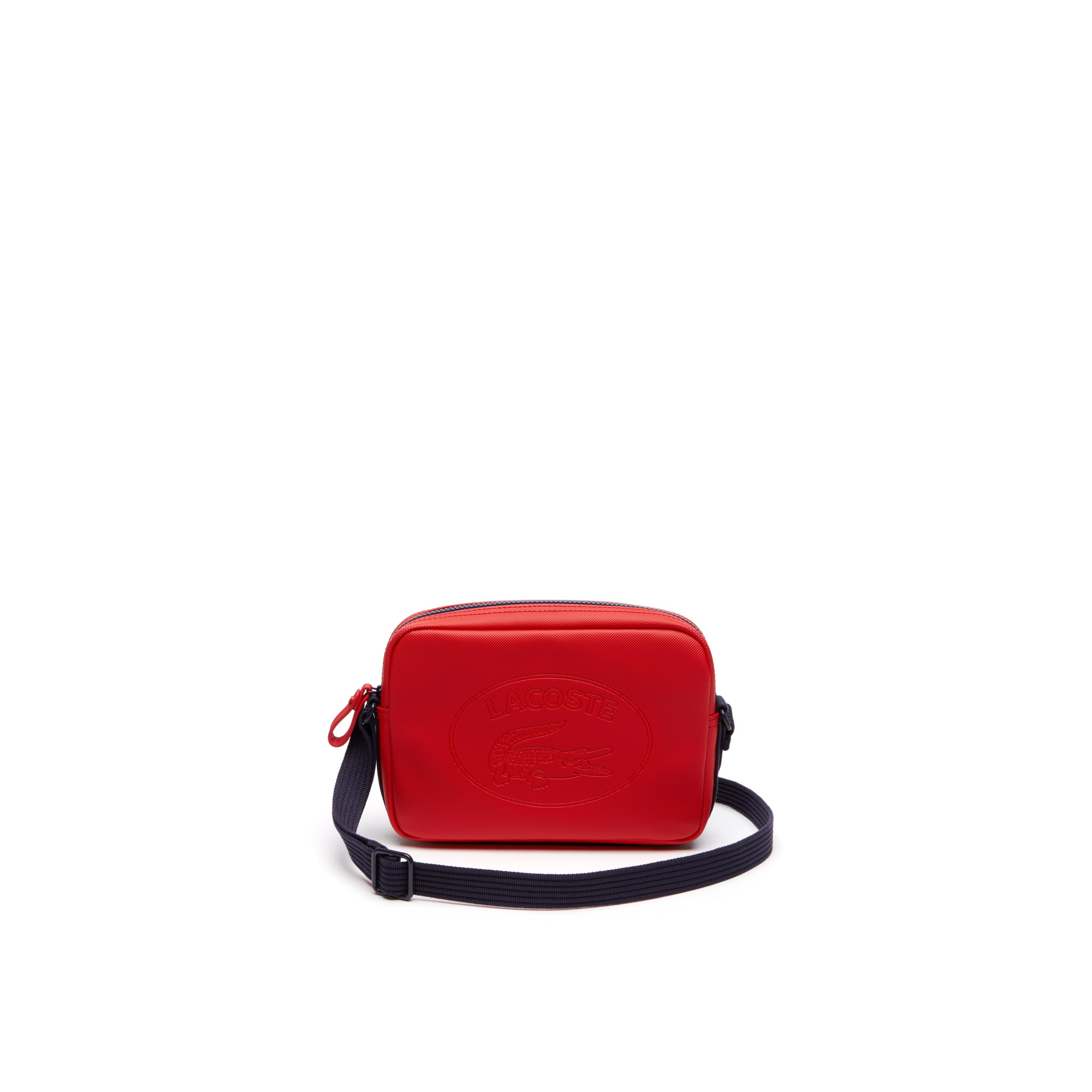 Women's Classic Coated Piqué Canvas Square Zip Crossover Bag