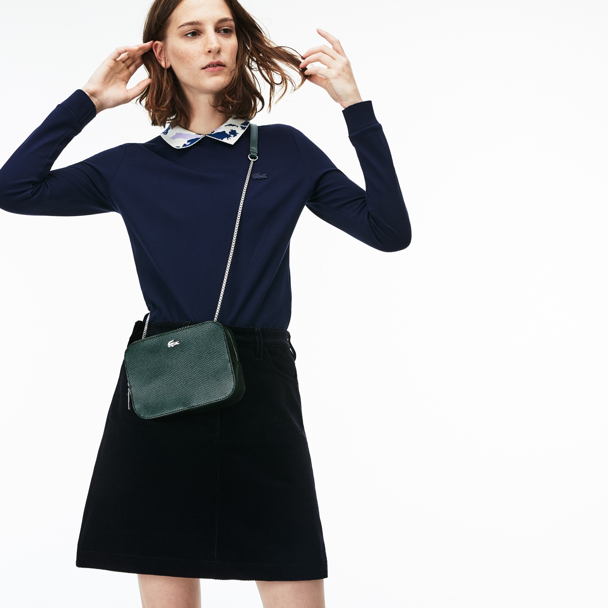 Women's Chantaco Christmas Square Piqué Leather Shoulder Bag