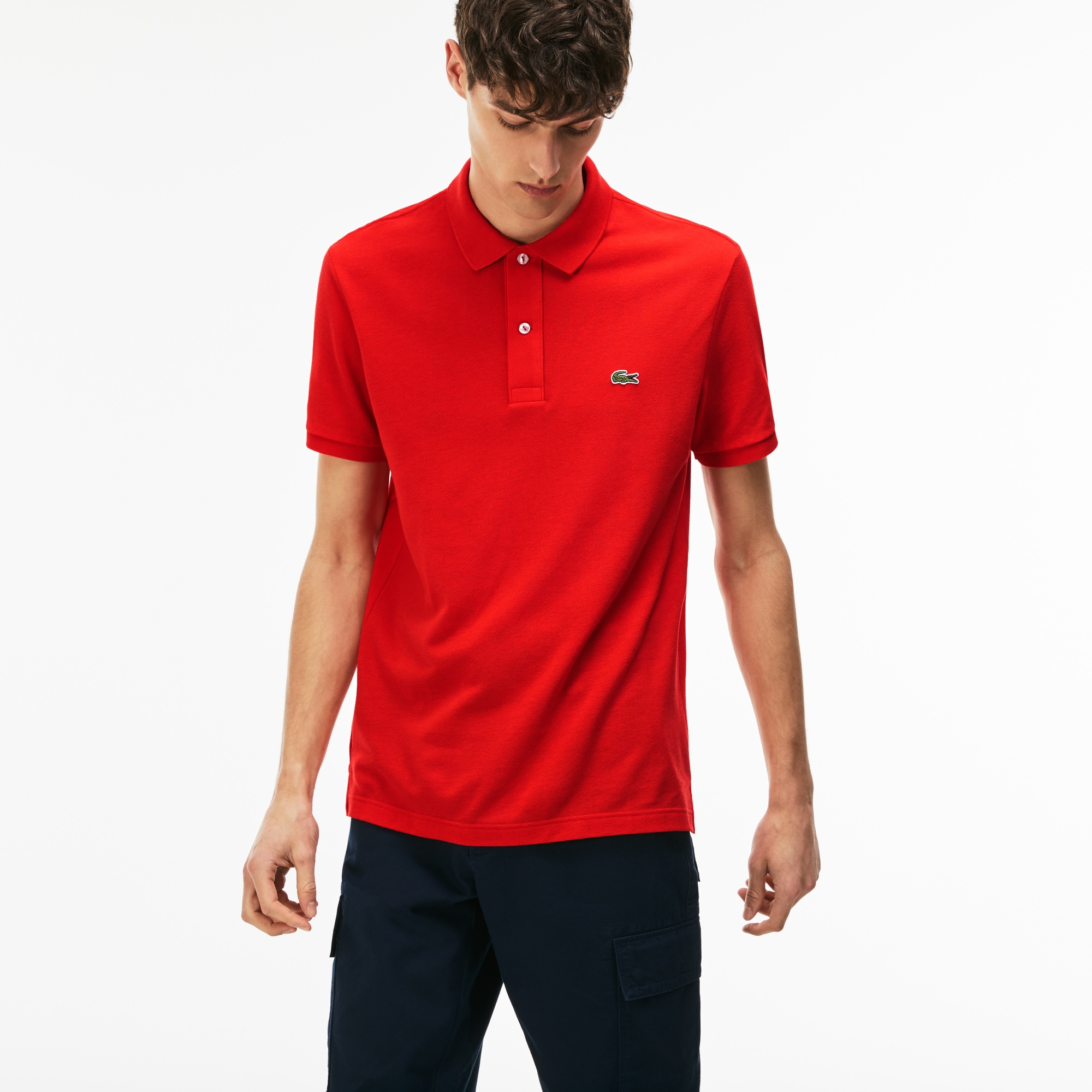 Men's Slim fit Lacoste polo in petit piqué