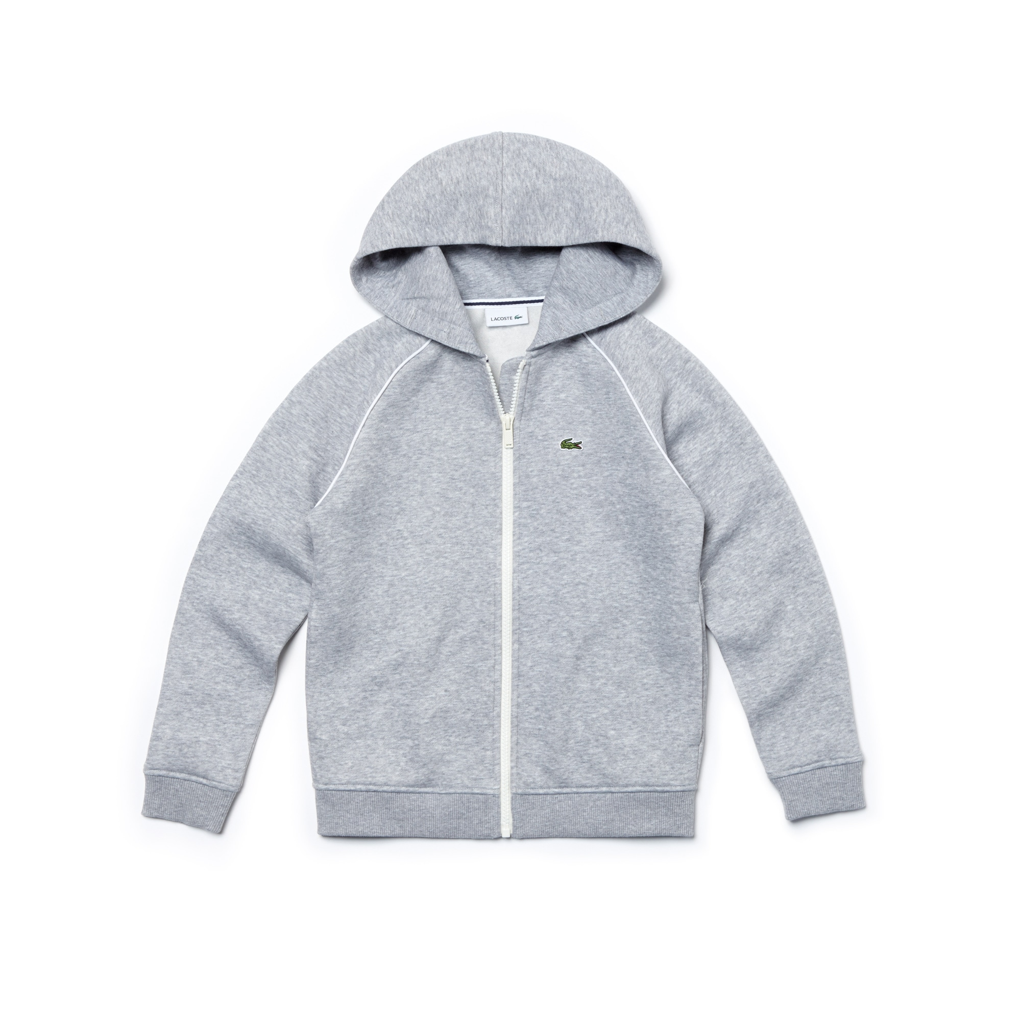 Boys' Hooded Piped Fleece Zip Sweatshirt