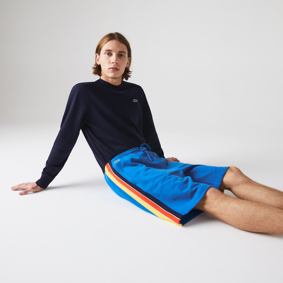 Men's Lacoste SPORT Contrast Band Fleece Shorts