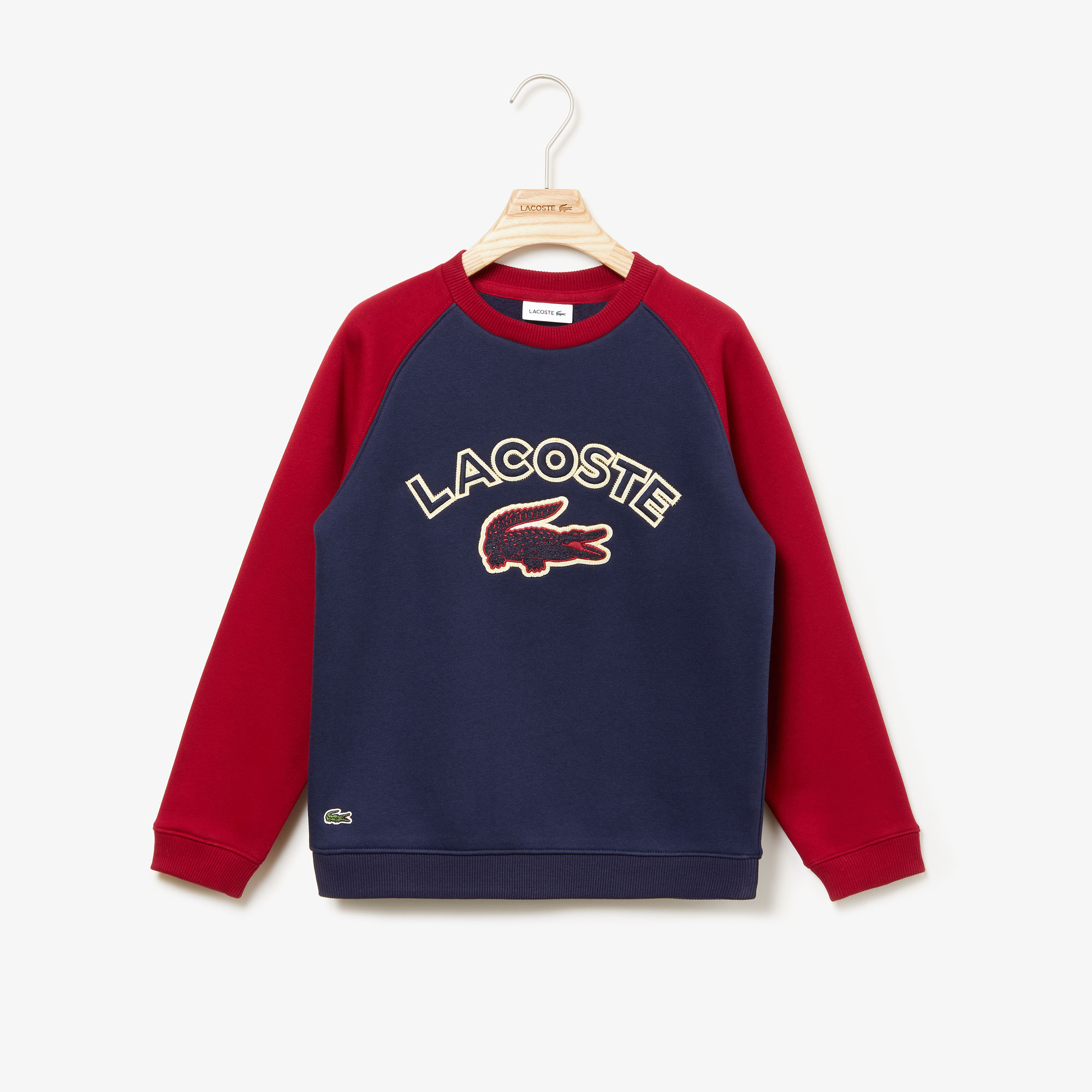 Boys' Croc Patch Colourblock Fleece Sweatshirt