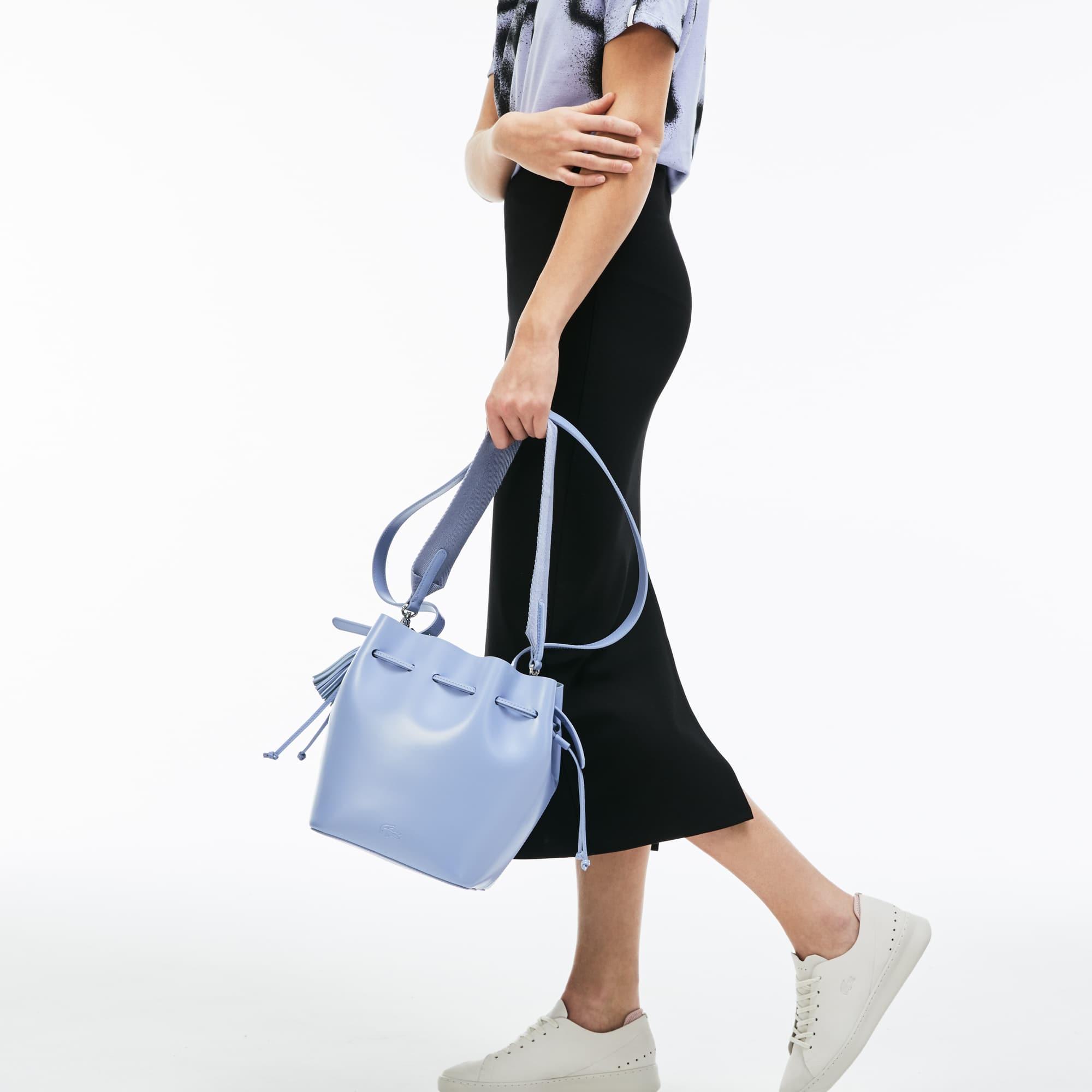 Women's Street Live Coated Leather Bucket Bag