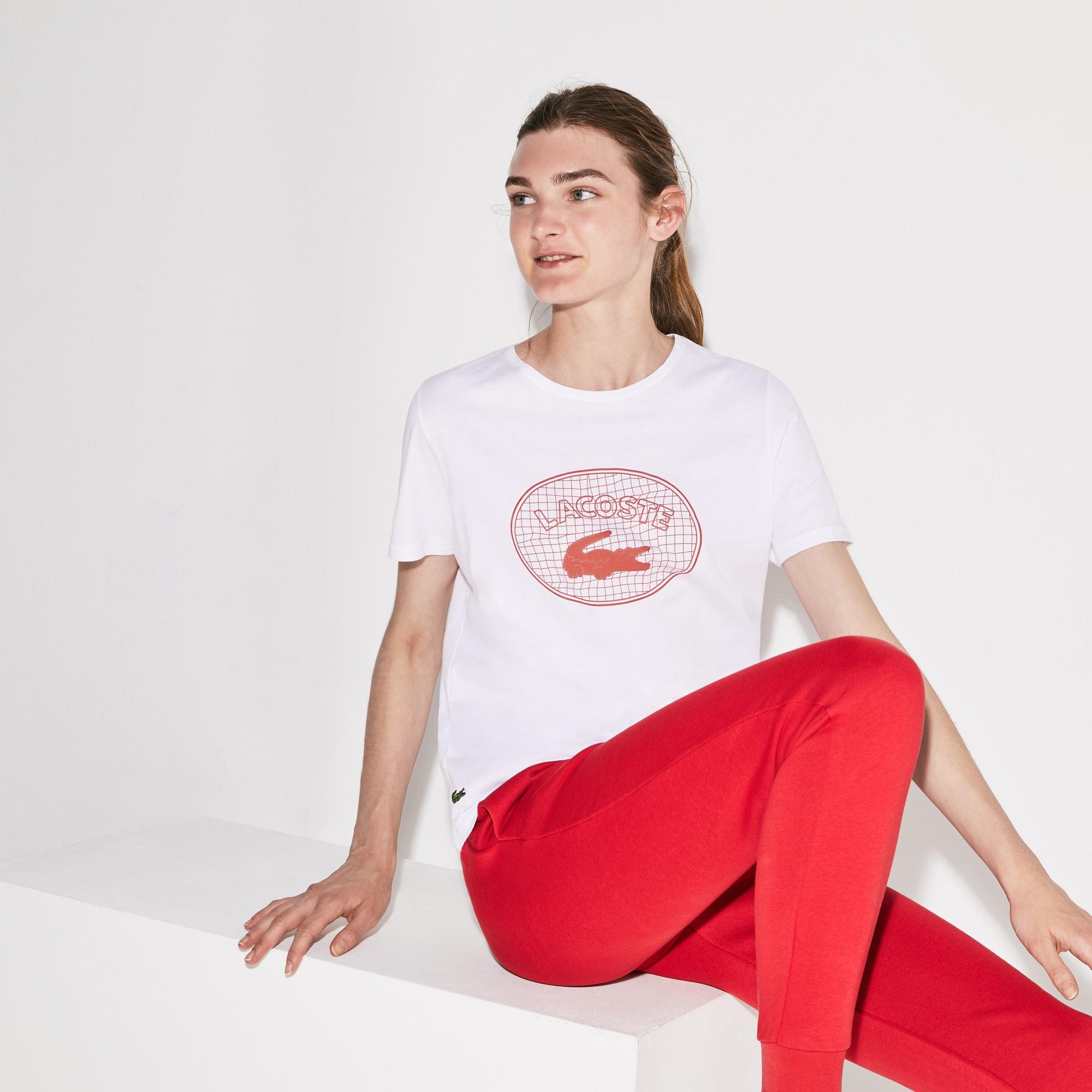 cb5aa9188b Women's Lacoste SPORT Oversized Logo Design Jersey Tennis T-shirt