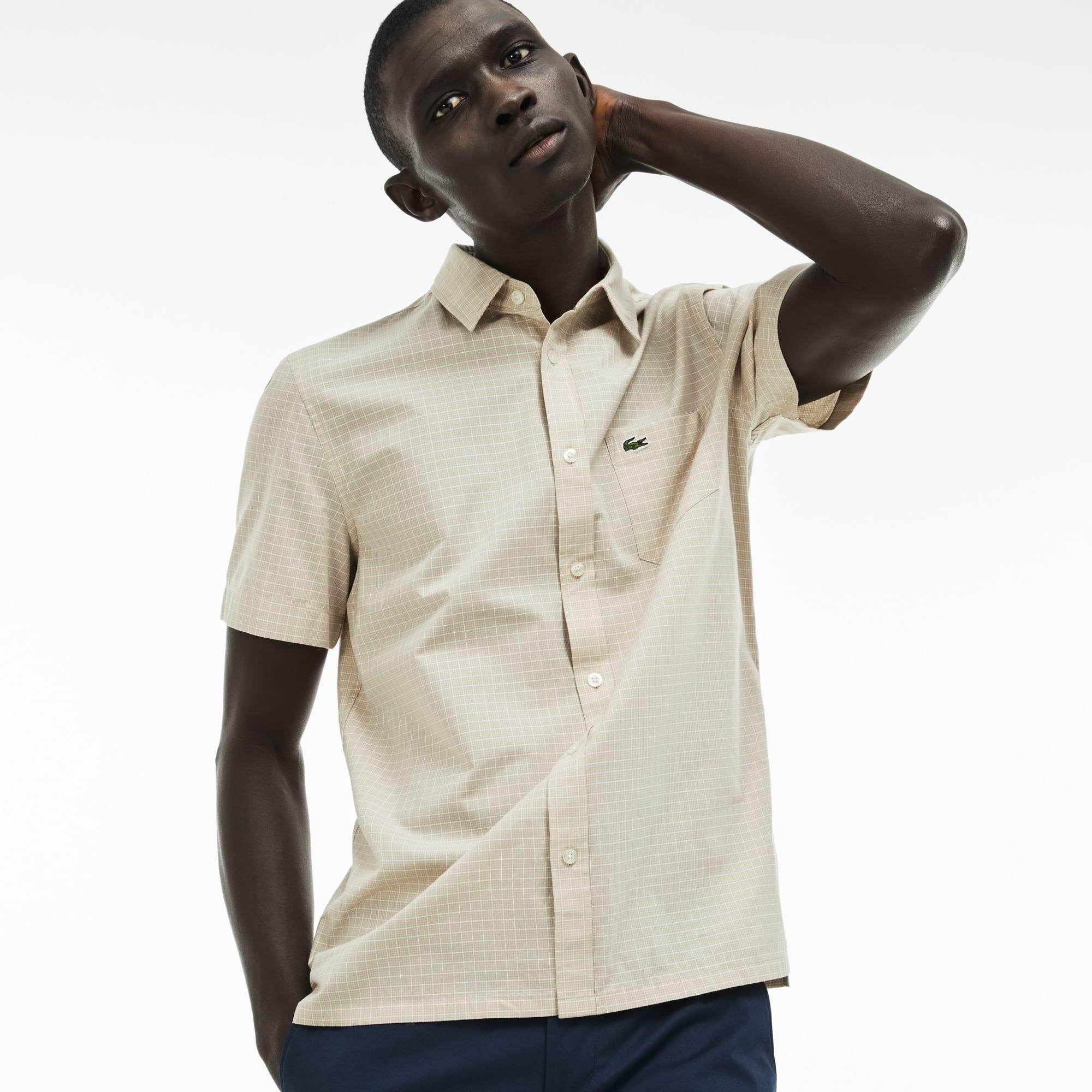 Men's Regular Fit Check Poplin Shirt