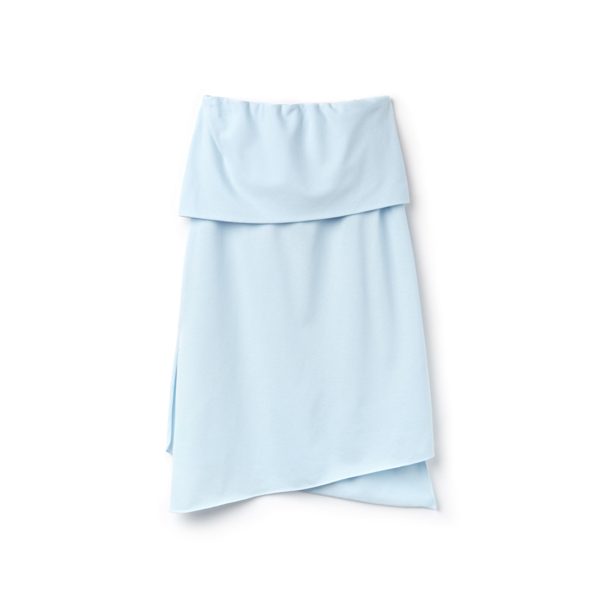 Women's Fashion Show Asymmetrical Twisted Cotton Piqué Skirt