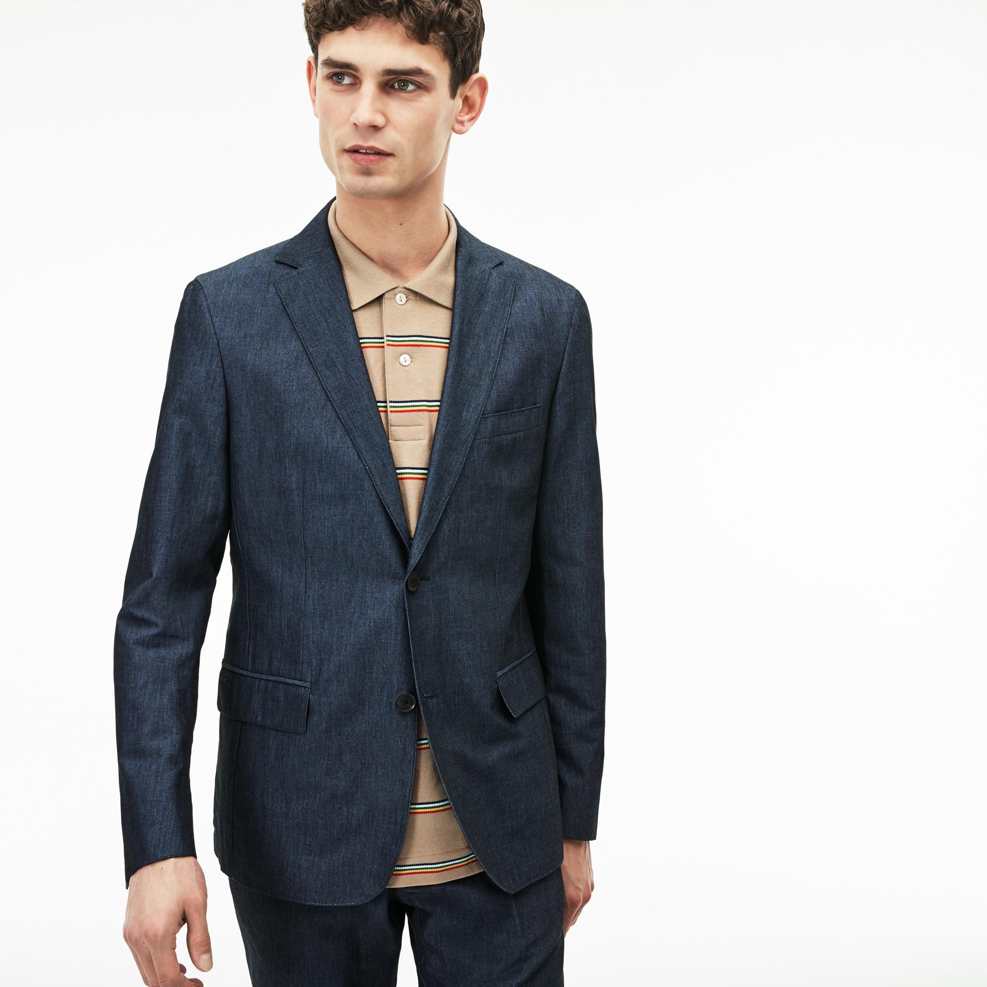 Men's Thick Cotton And Linen Canvas Blazer