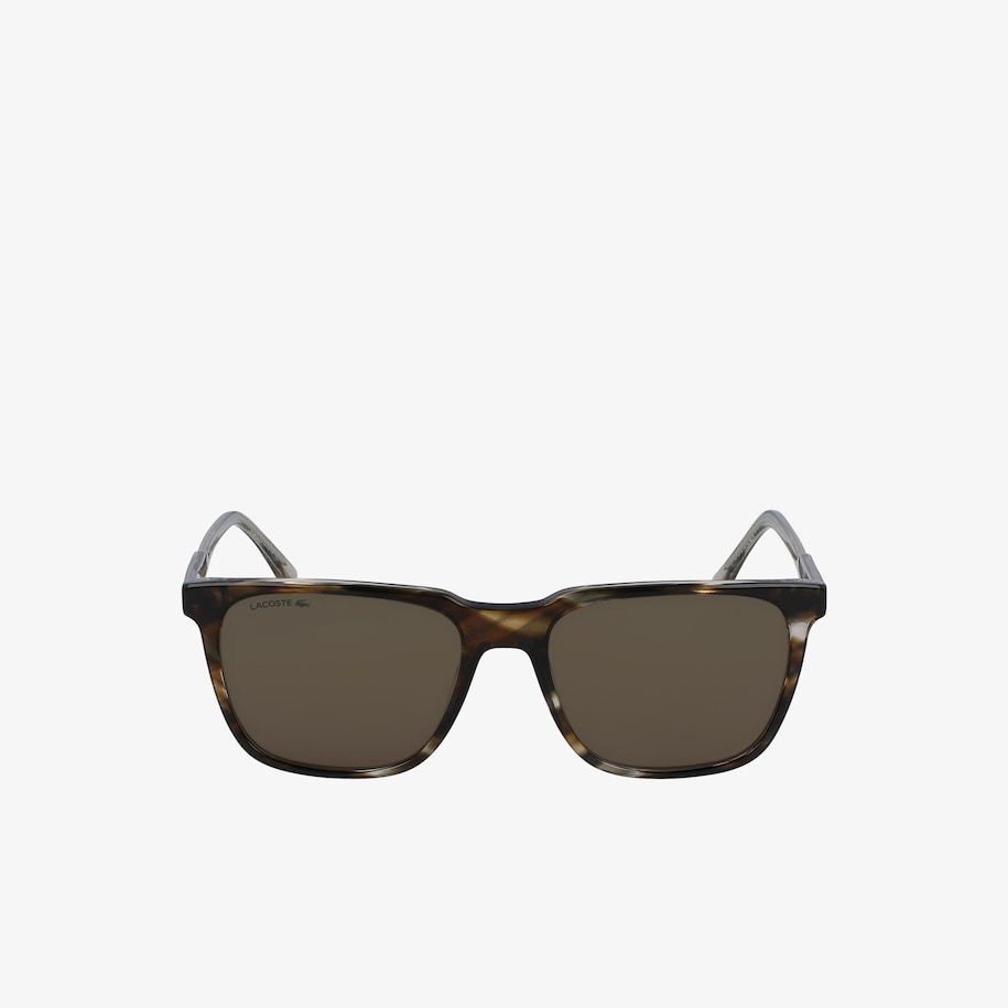 Modified Rectangle Acetate Petit Piqué Sunglasses