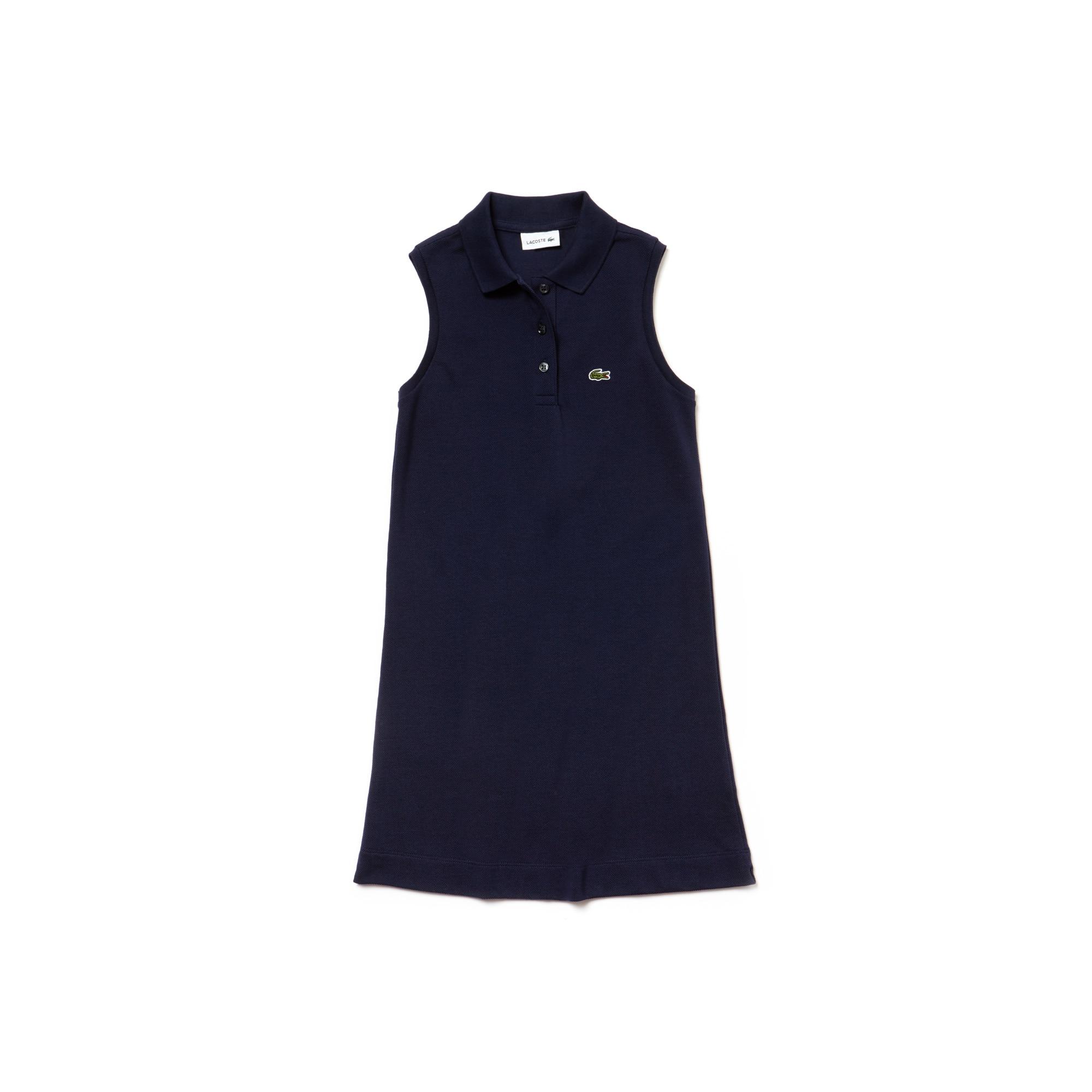 Girls' Petit Piqué Polo Dress
