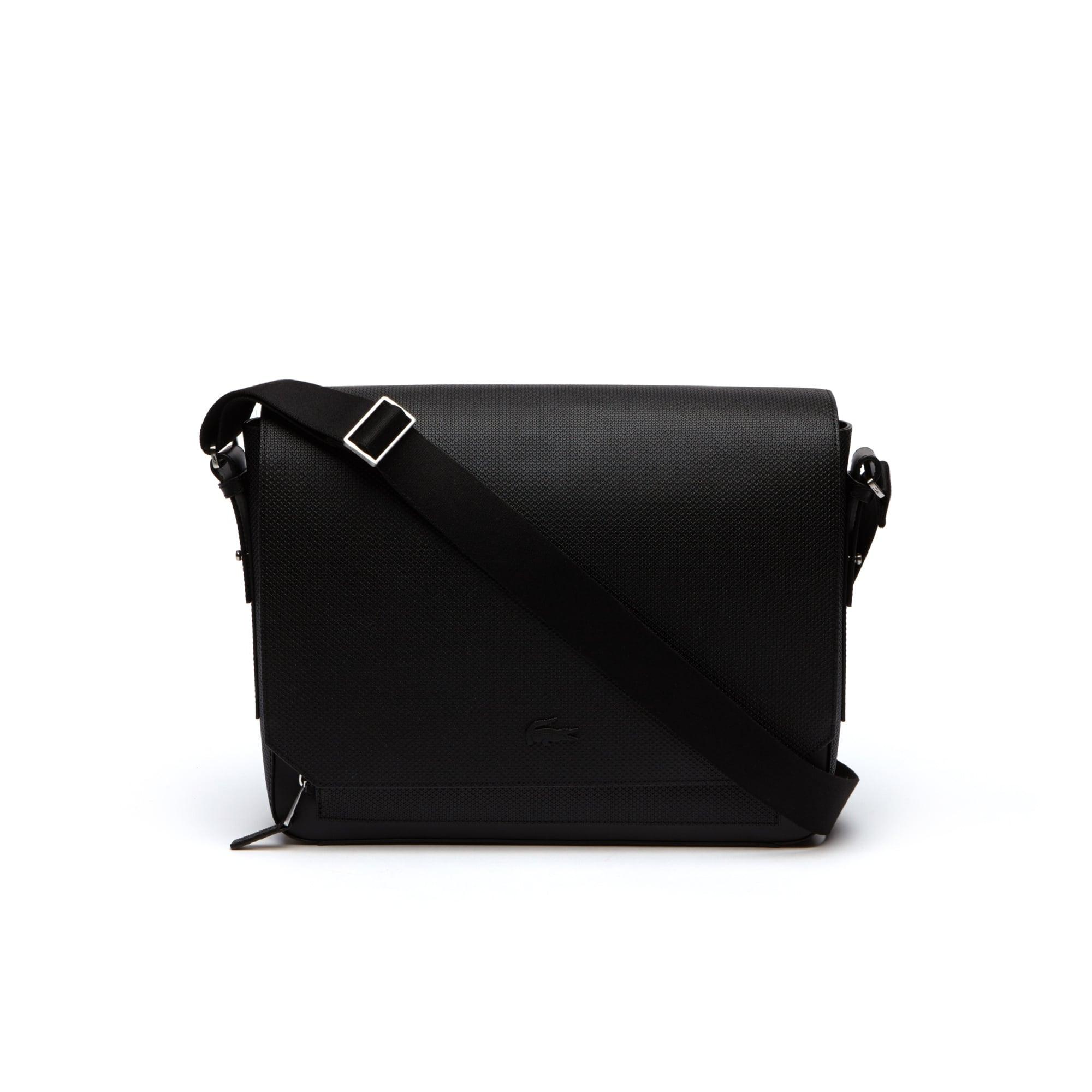 Men's Chantaco Matte Piqué Leather Flap Bag
