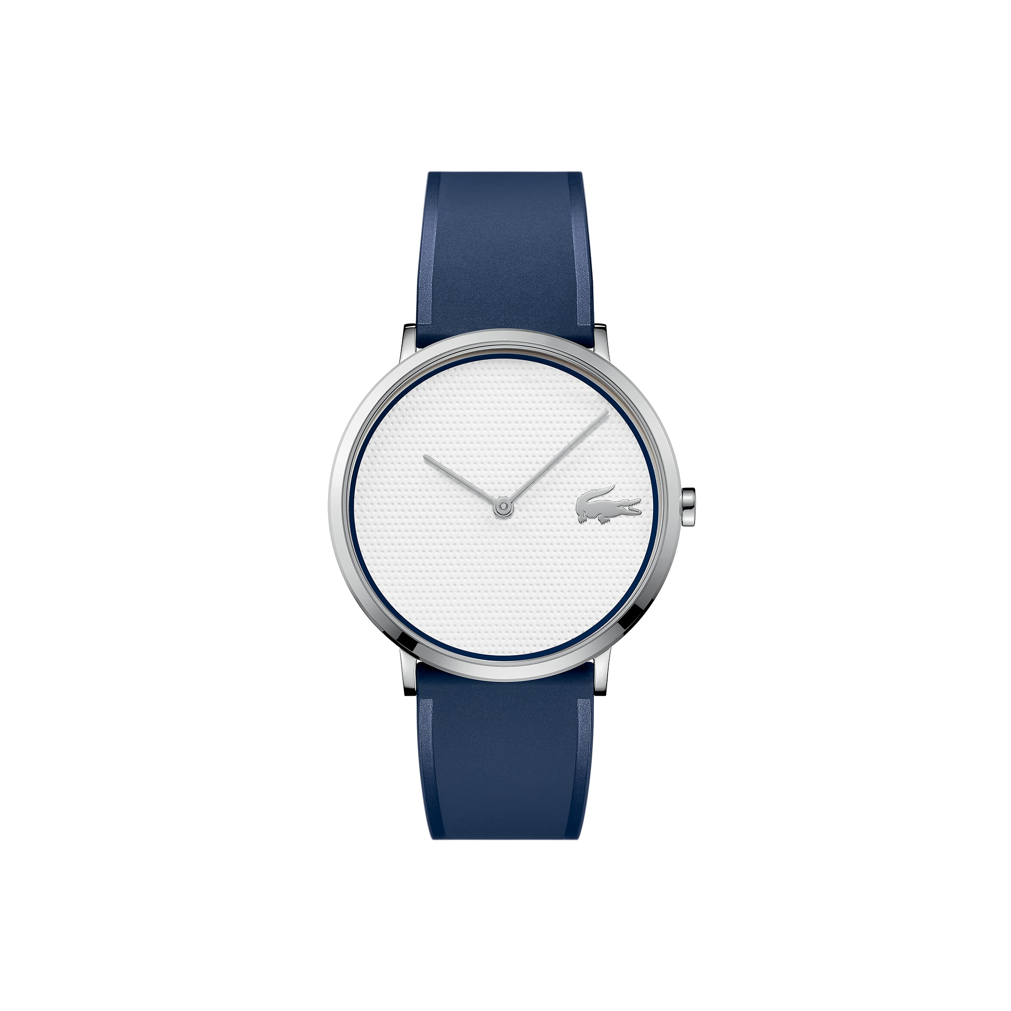 Men's Moon Ultra Slim Watch Golf Capsule with Blue Silicone Strap