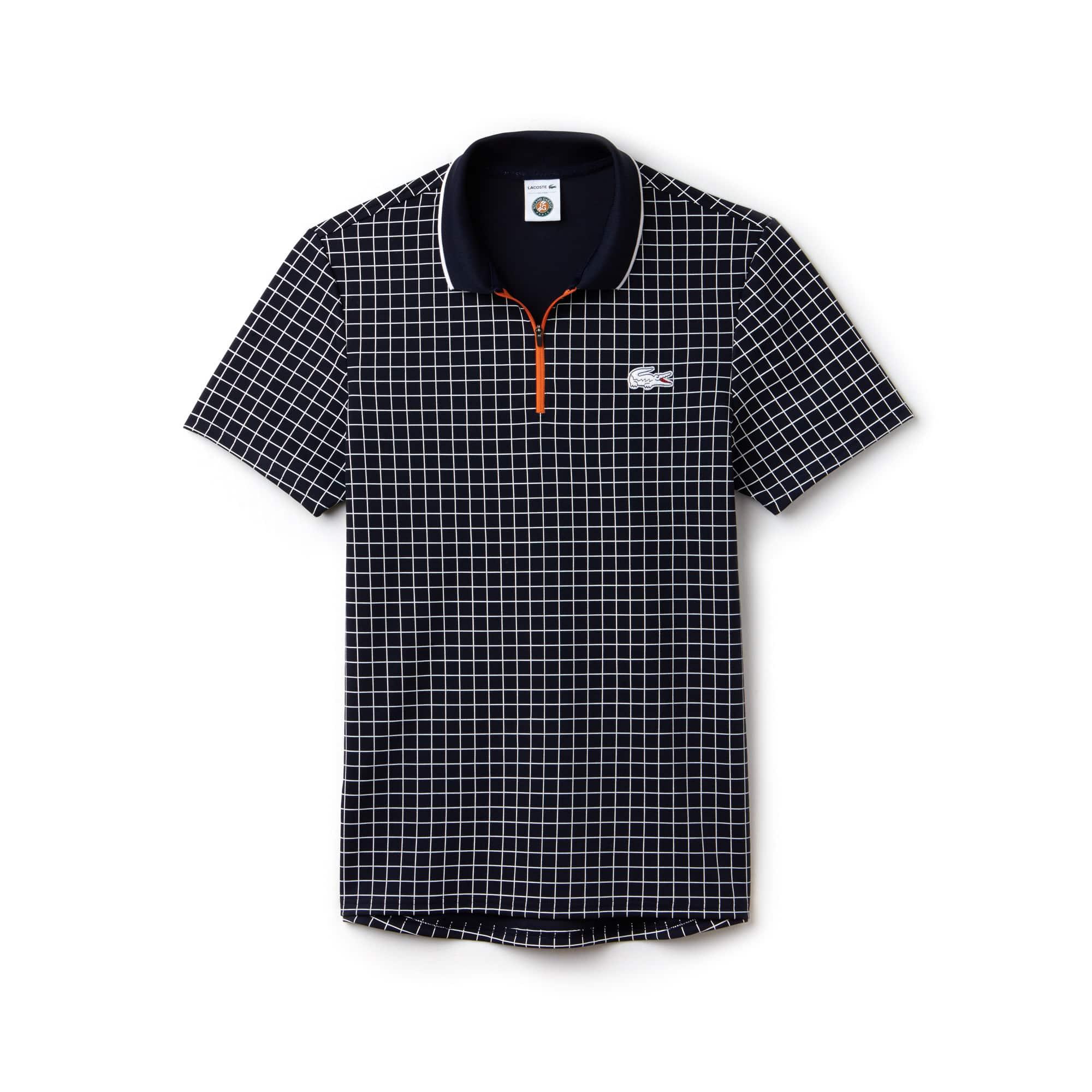 Men's Lacoste SPORT Roland Garros Edition Print Technical Piqué Polo Shirt
