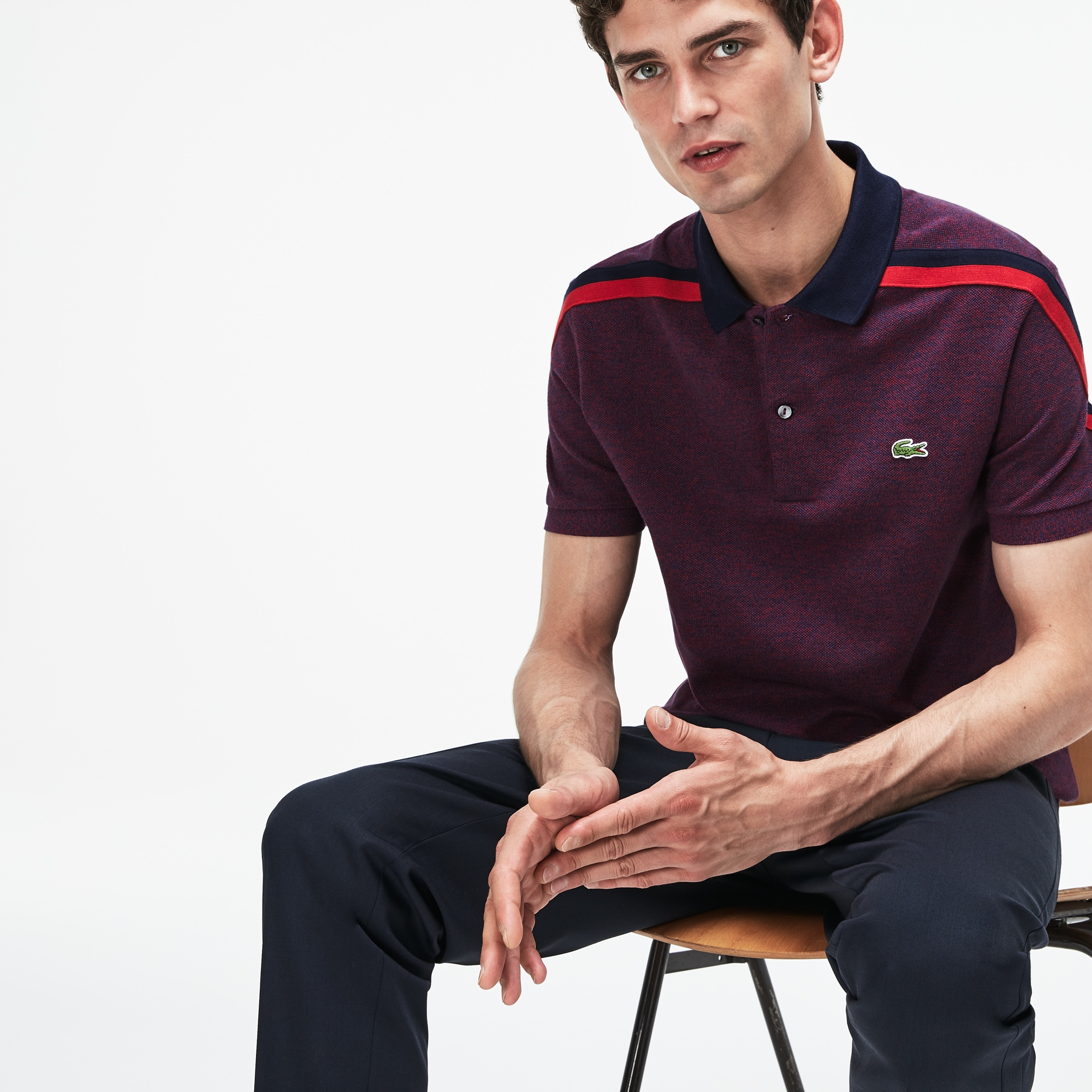 Men's Lacoste Motion Regular Fit Cotton Piqué Polo