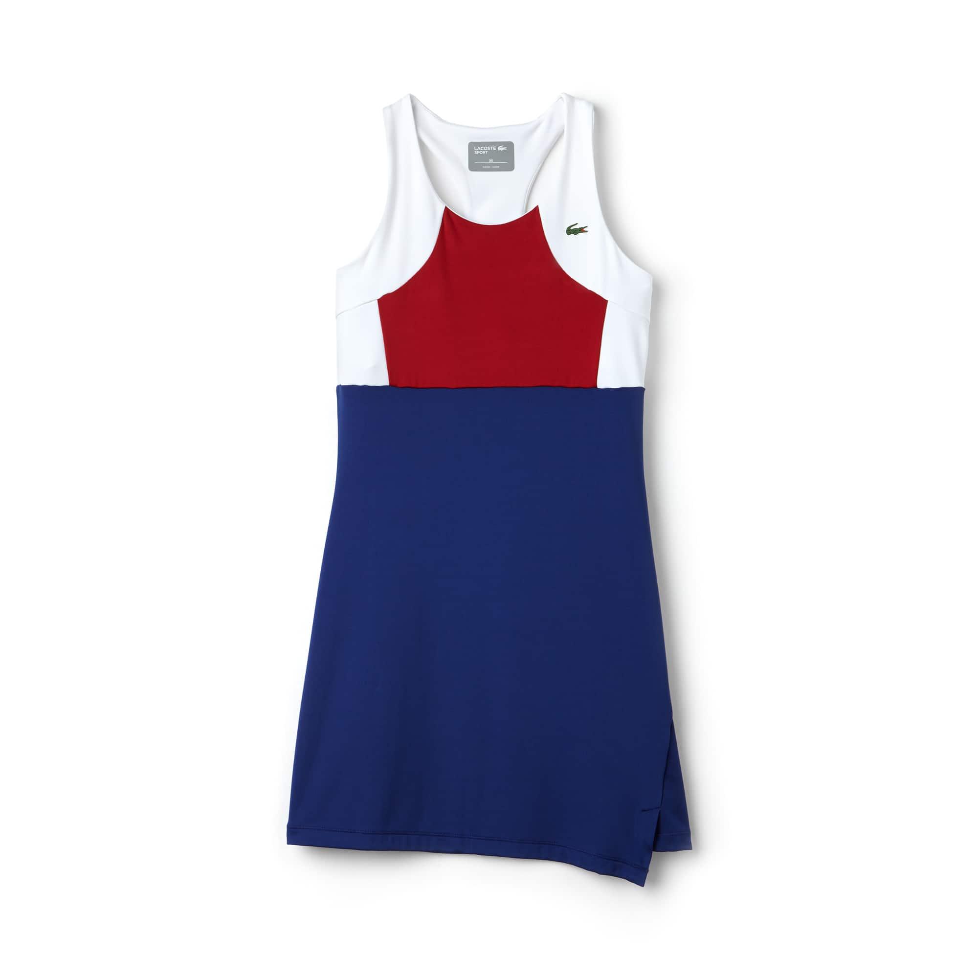Women's Lacoste SPORT Tennis Colorblock Jersey Racerback Dress