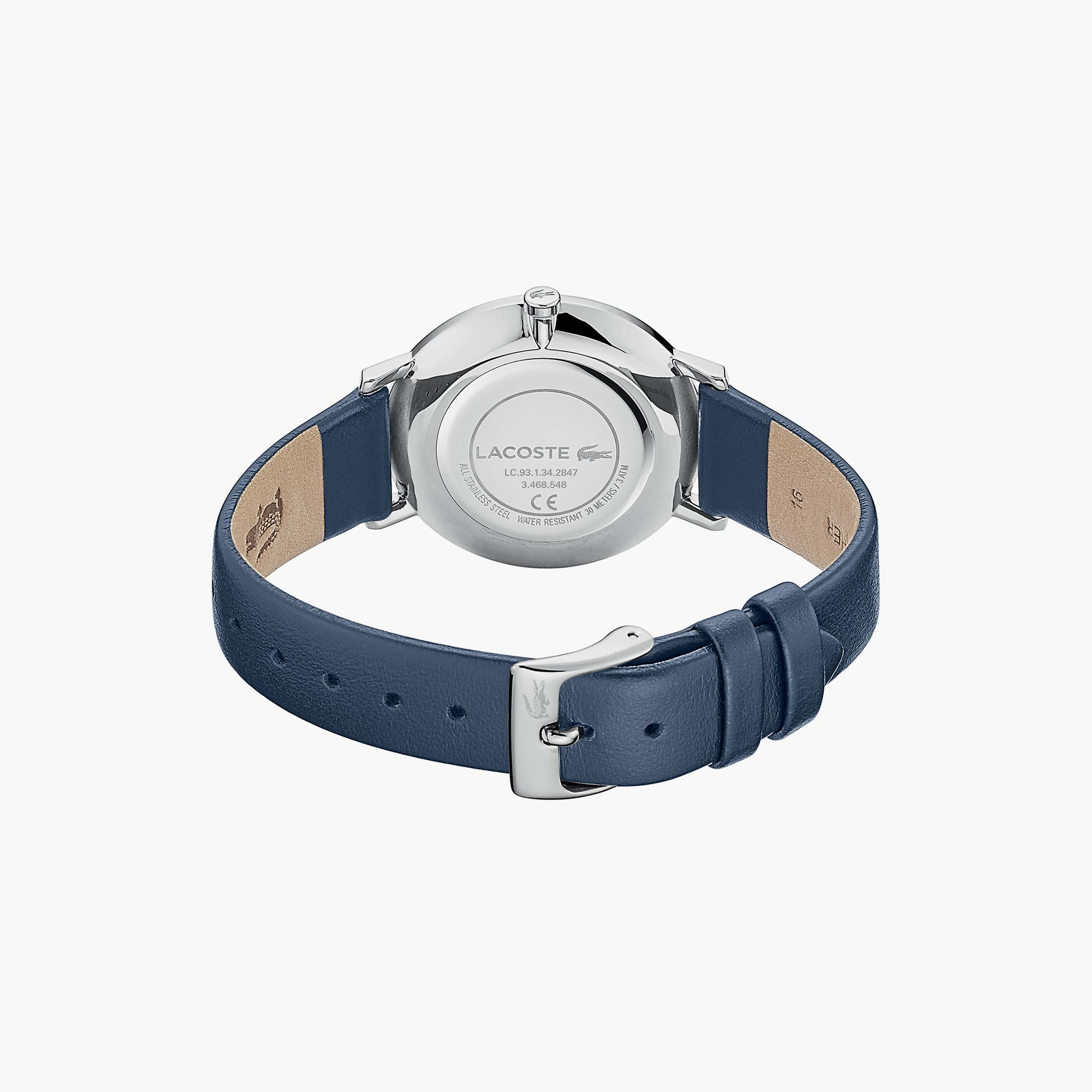 Ladies Moon Watch with Blue Leather Strap