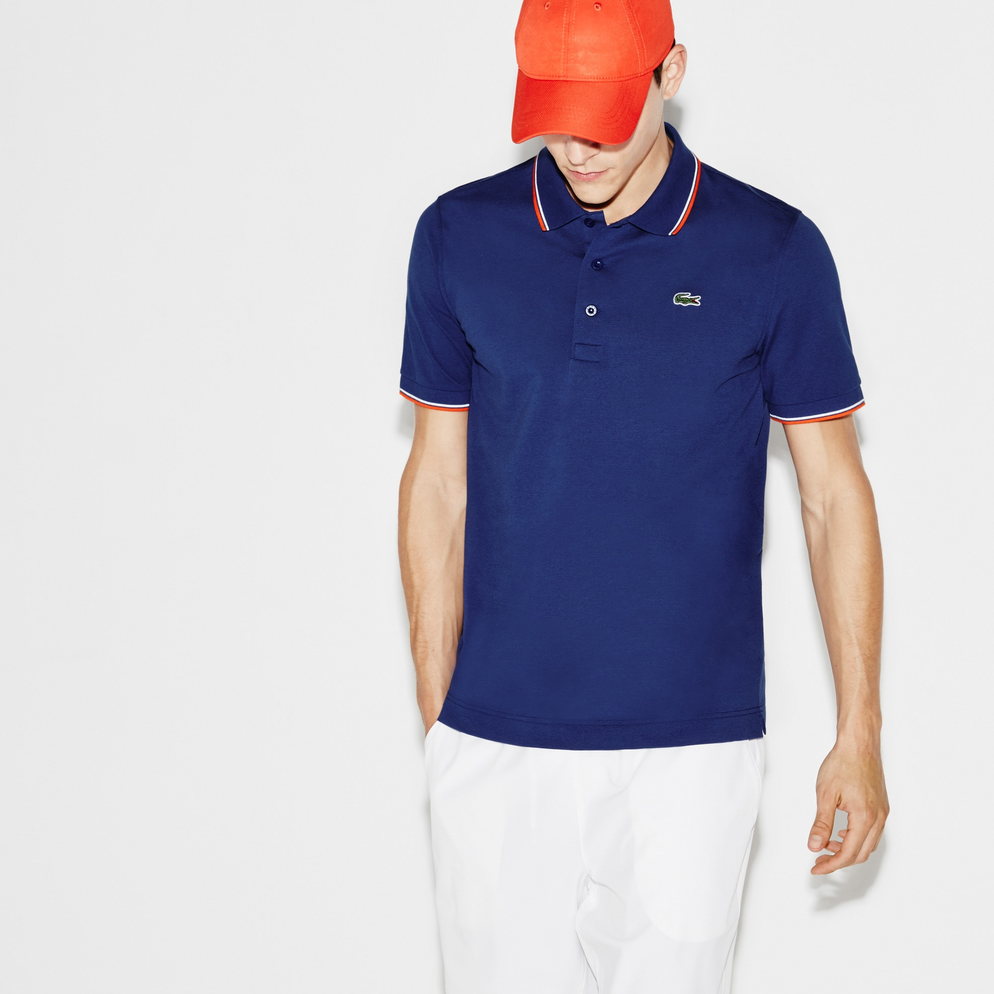 Men's Lacoste SPORT Ultra-light Knits Polo With Piping