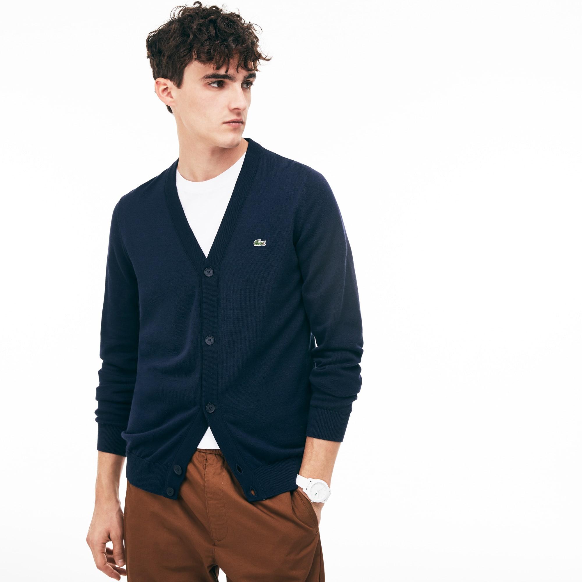Men's Cotton Jersey Cardigan