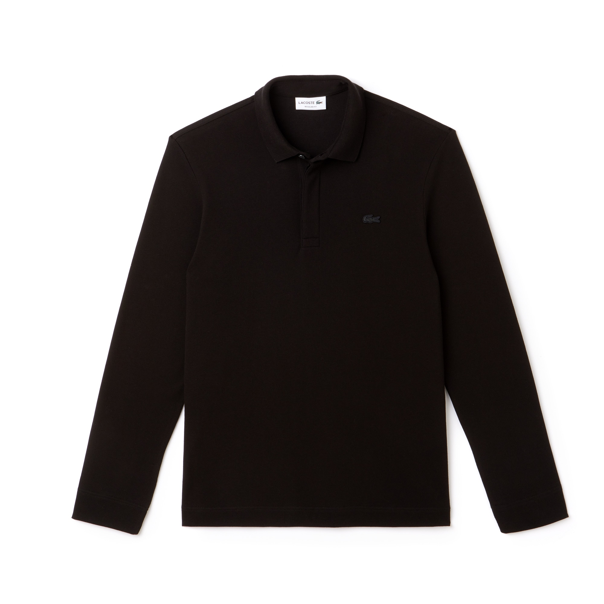 Men's Long-sleeve Lacoste Paris Polo Shirt Regular Fit Stretch Cotton Piqué