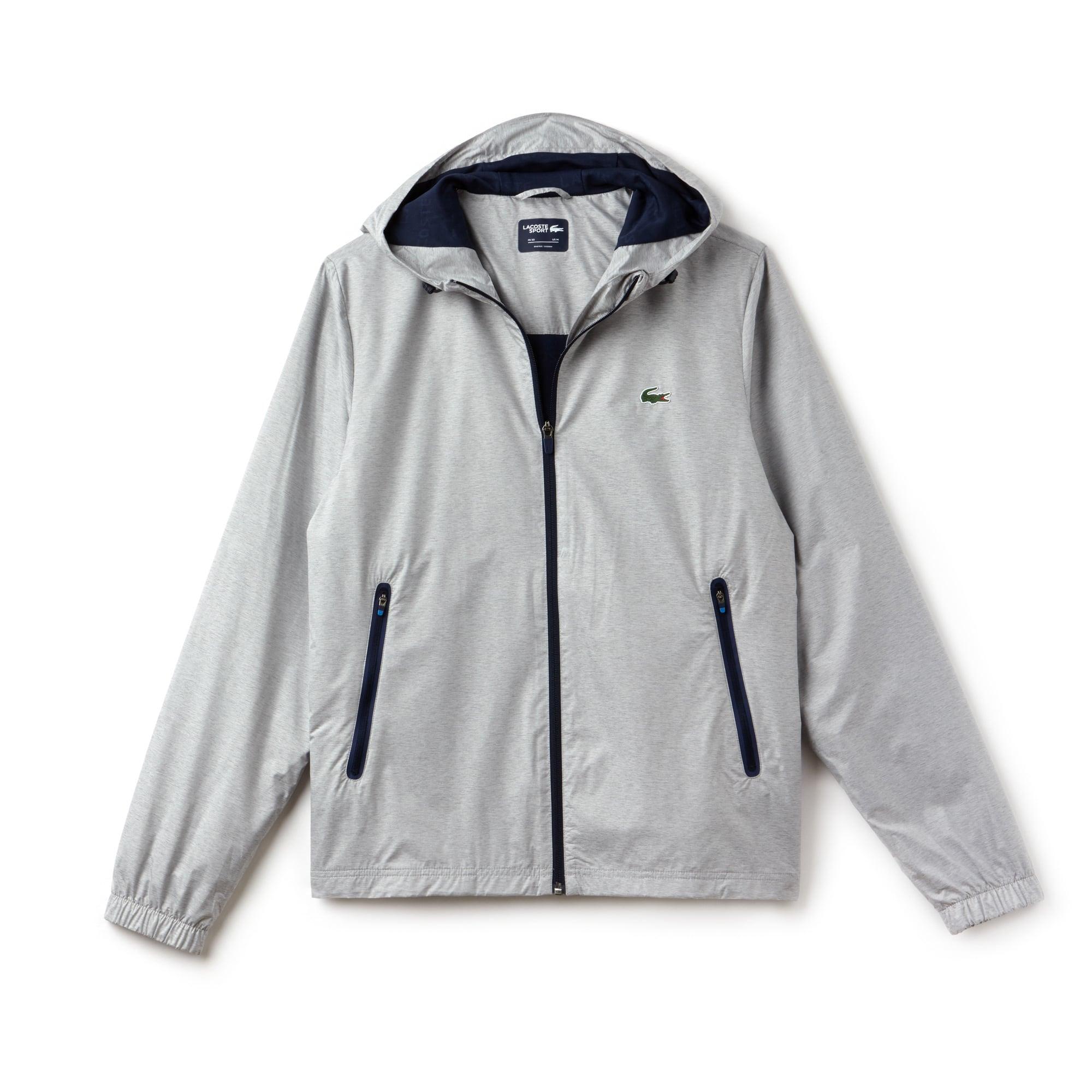 Men's Lacoste SPORT Metallic Technical Taffeta Zip Golf Jacket