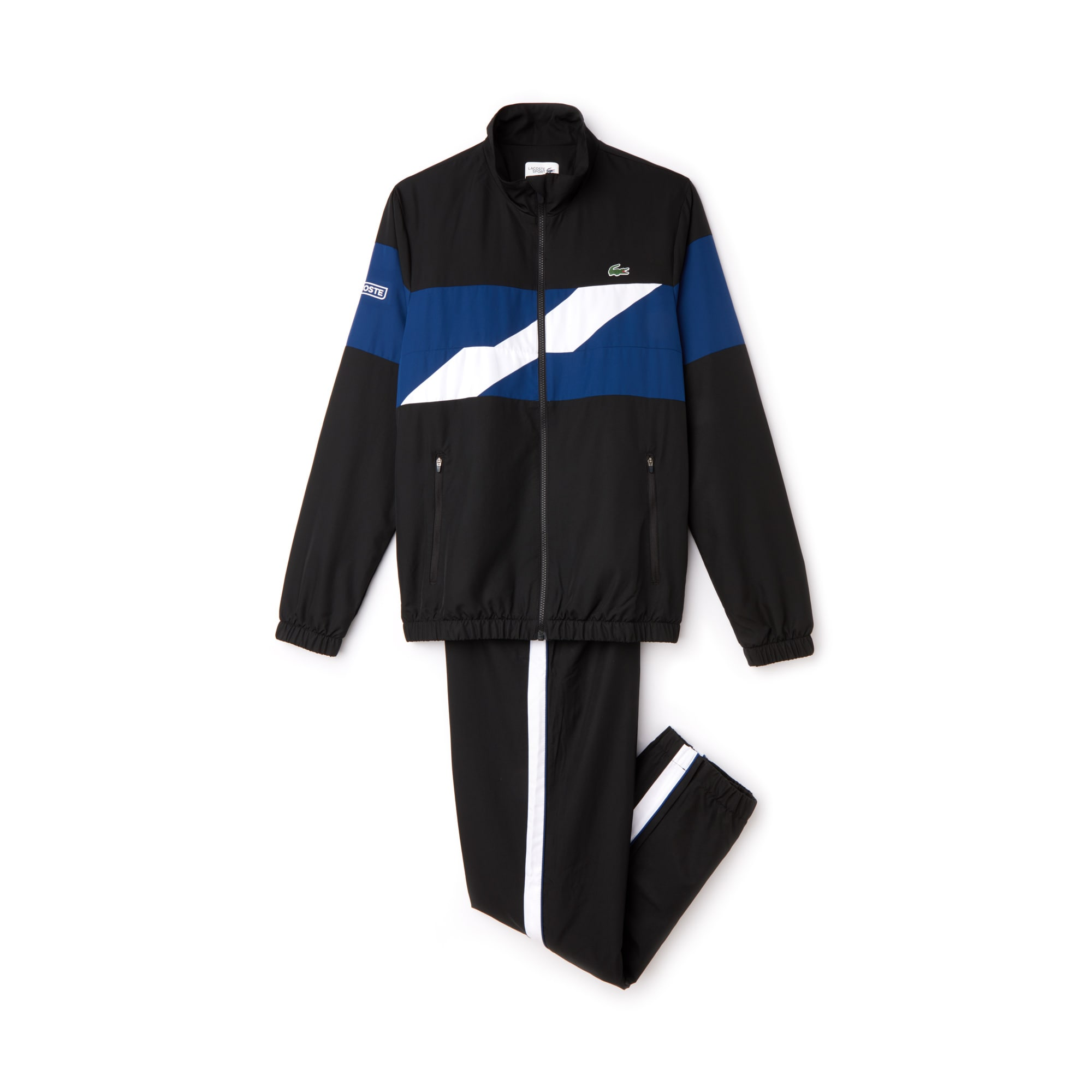 Men's Lacoste SPORT Colored Bands Taffeta Tennis Tracksuit