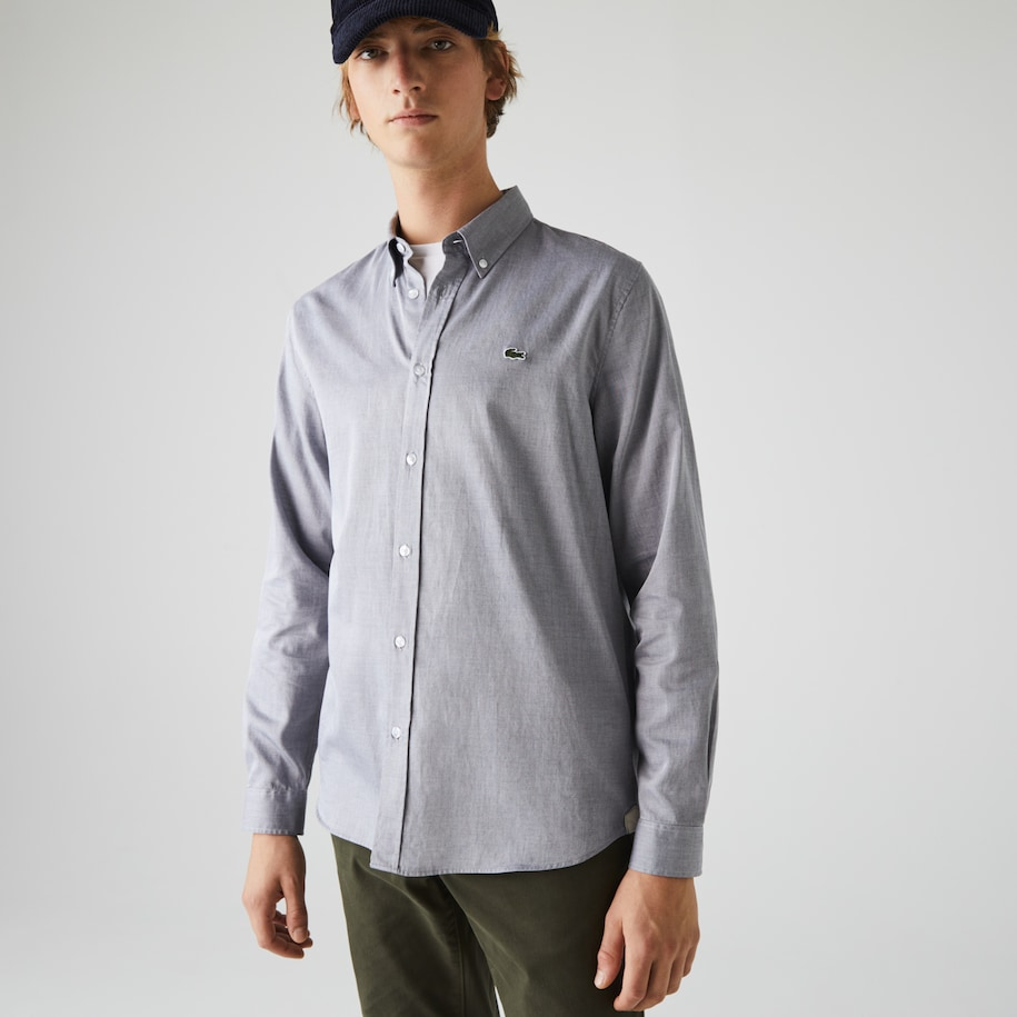 Men's Regular Fit Textured Cotton Shirt