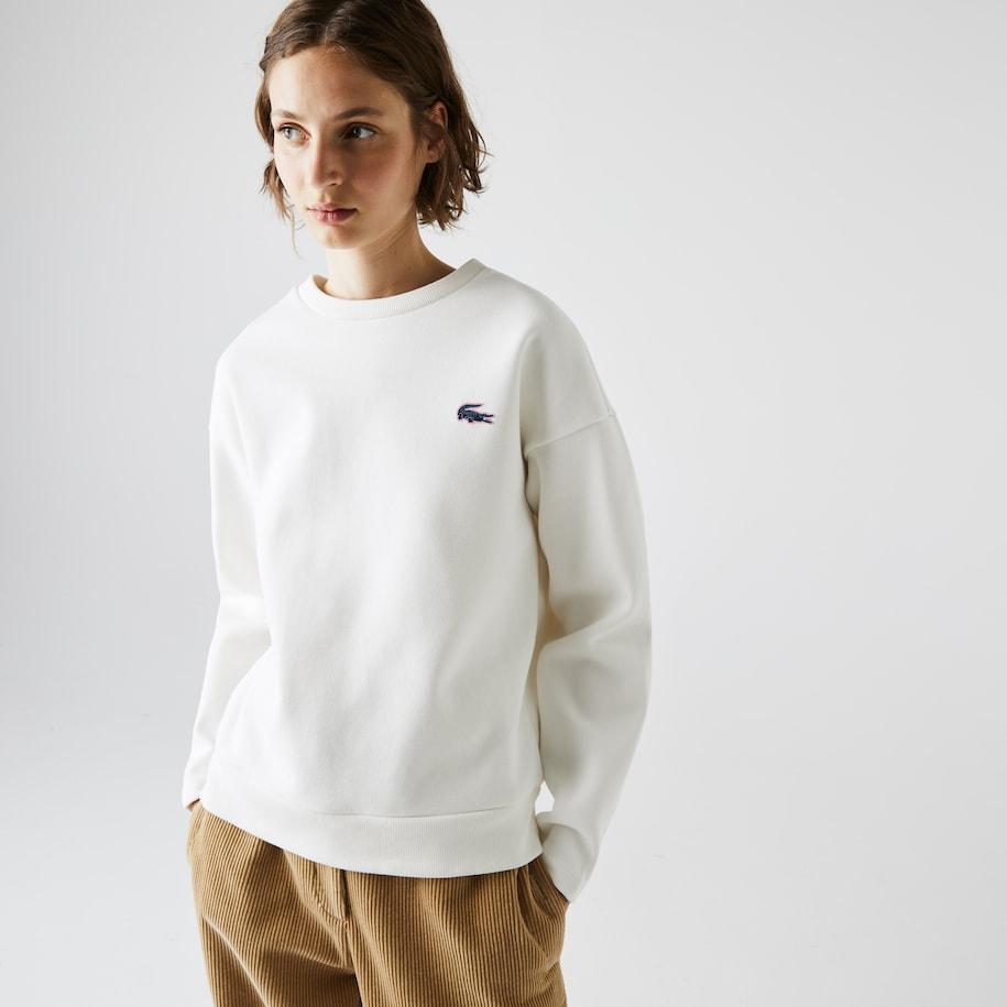 Women's Lacoste SPORT Crew Neck Cotton Sweatshirt