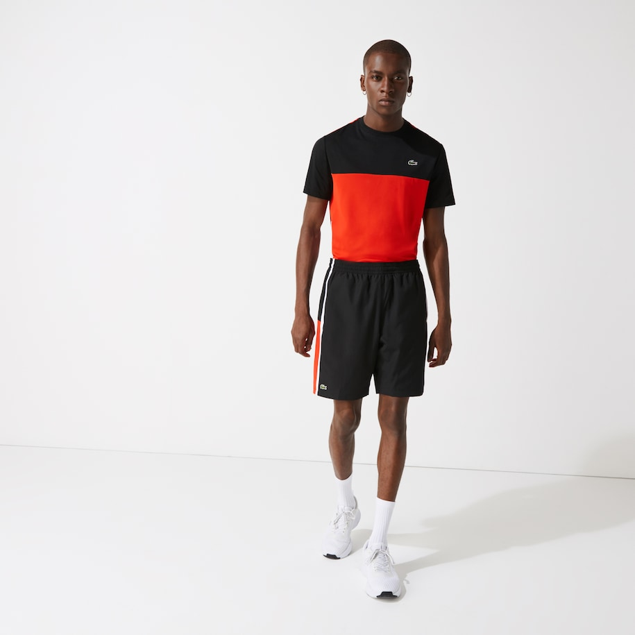 Men's Lacoste SPORT Colourblock Panels Lightweight Shorts
