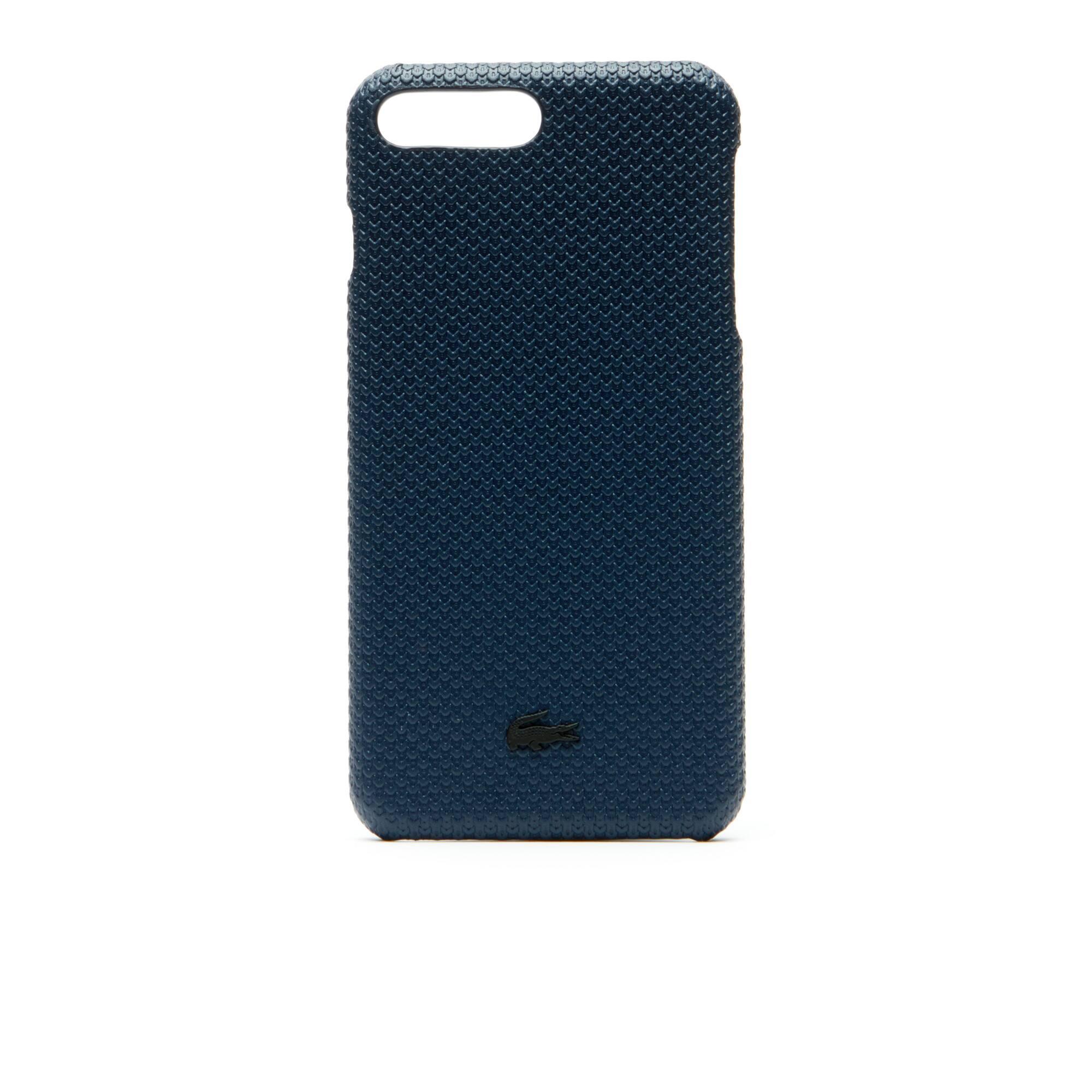 Men's Chantaco Matte Piqué Leather iPhone 8+ Shell