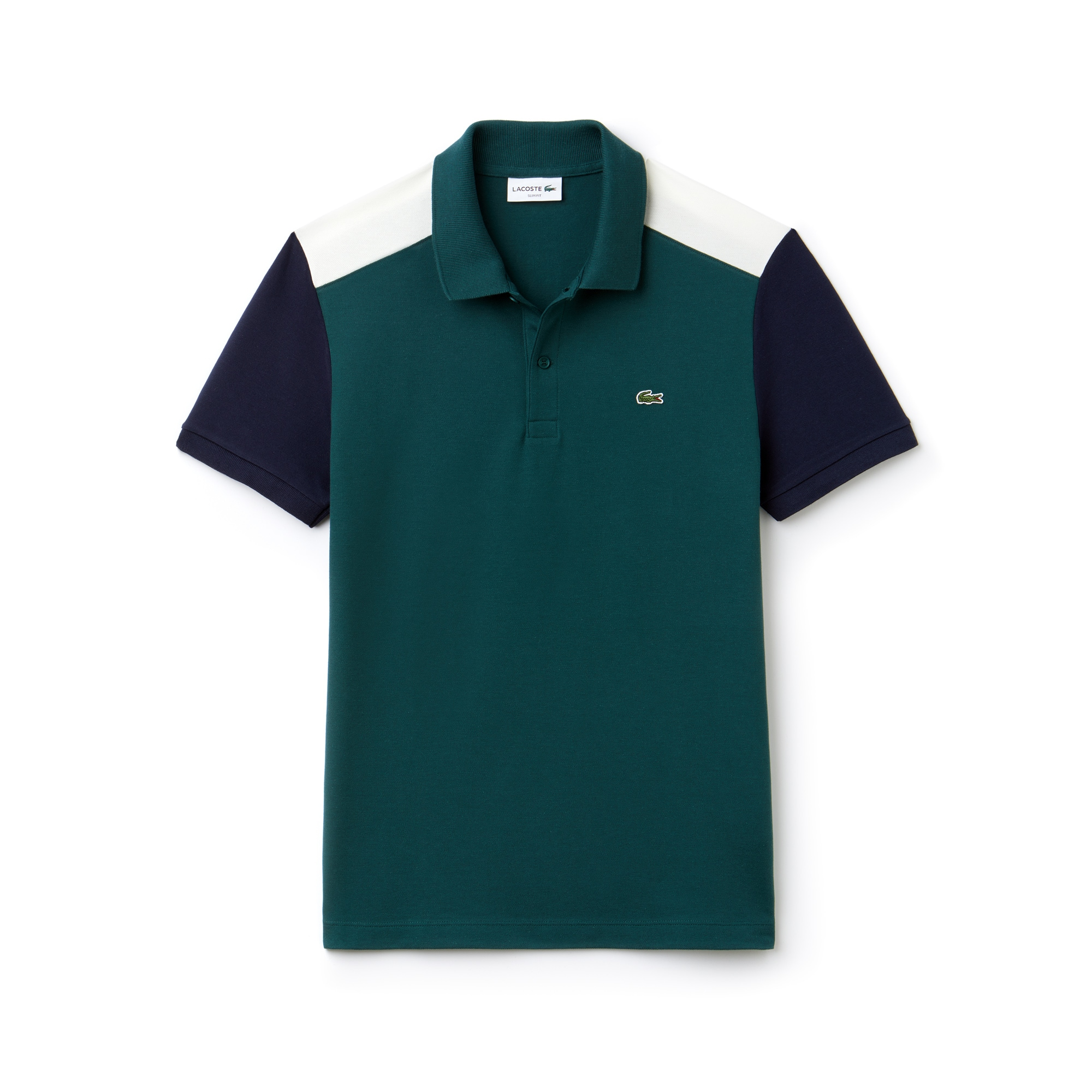 Men's Lacoste Slim Fit Colorblock Stretch Pima Cotton Piqué Polo Shirt