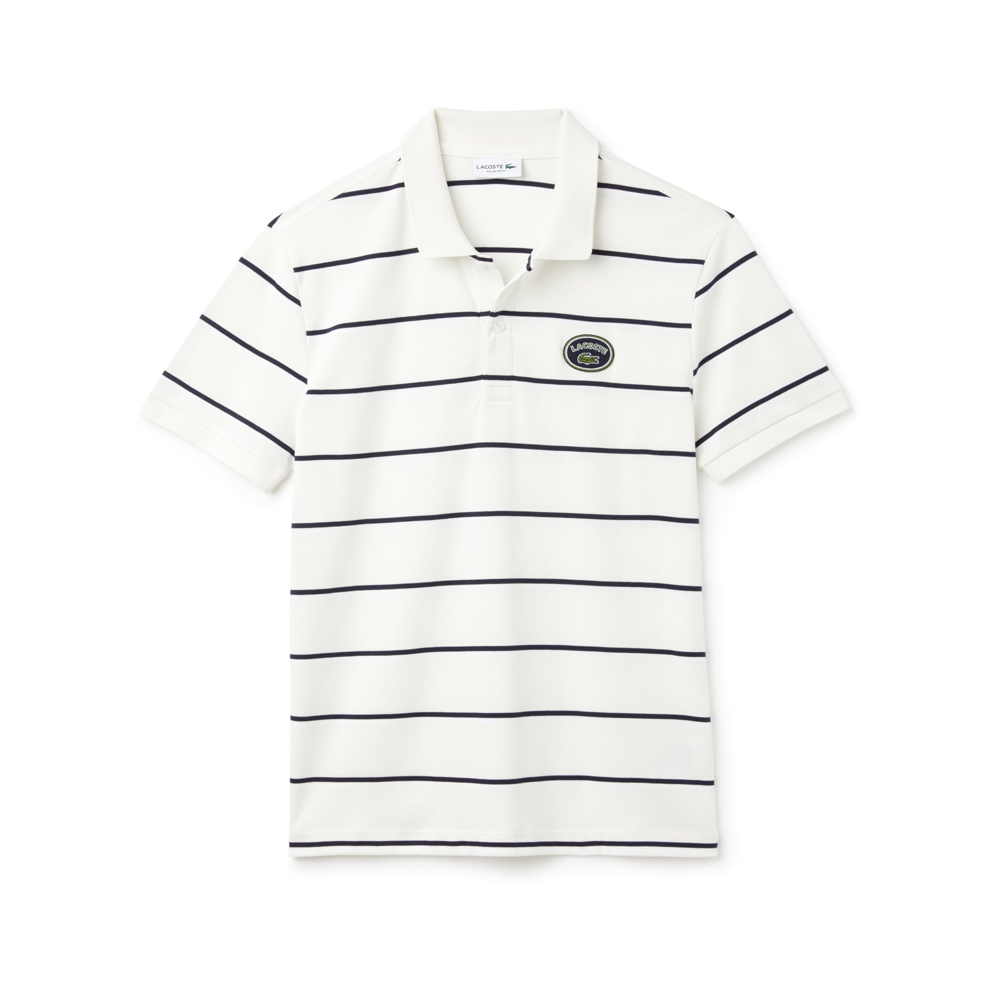Men's Lacoste Regular Fit Striped Cotton Interlock Polo Shirt