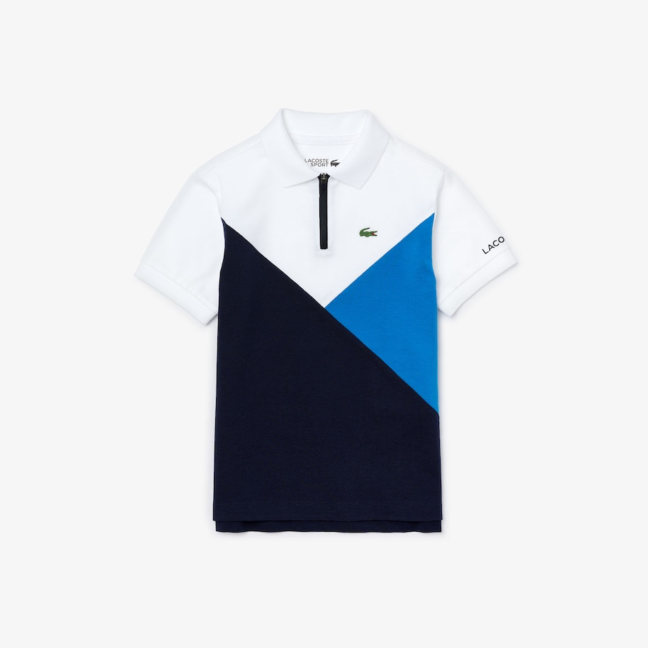 Boys' Lacoste SPORT Colourblock Ultra-Light Knit Polo Shirt
